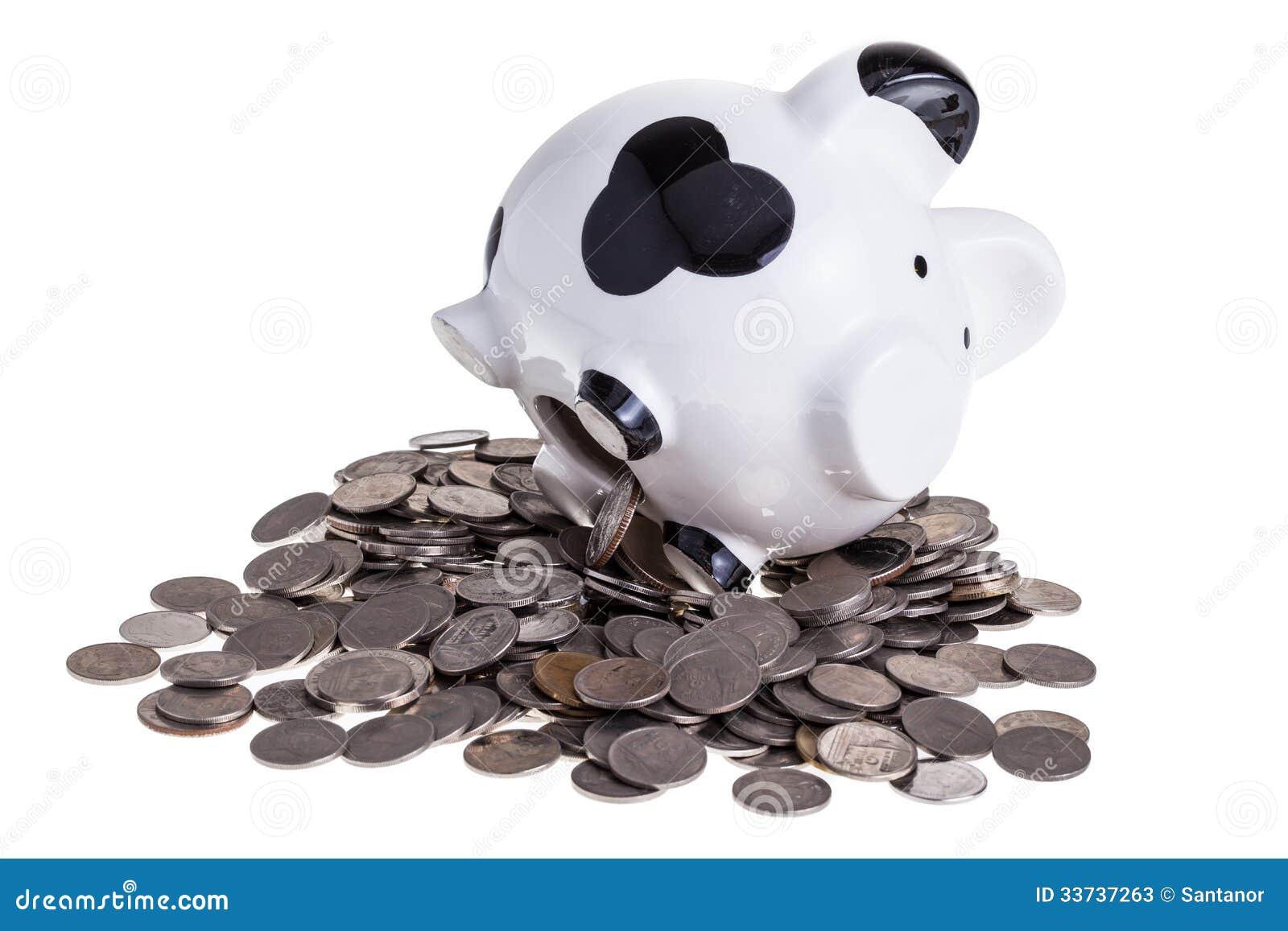 Копилка на куче монеток