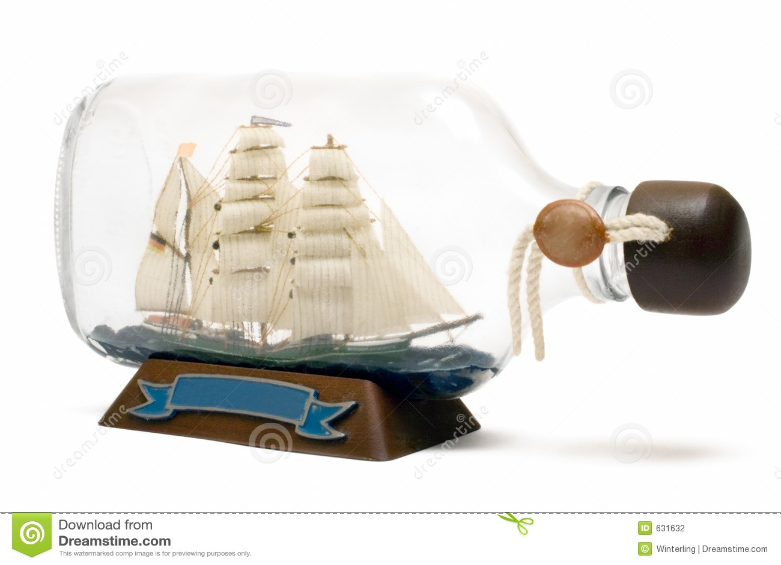 Download корабль бутылки стоковое фото. изображение насчитывающей склянка - 631632