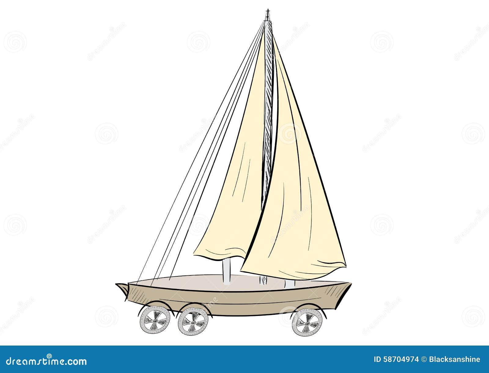 корабль на колёсах картинки