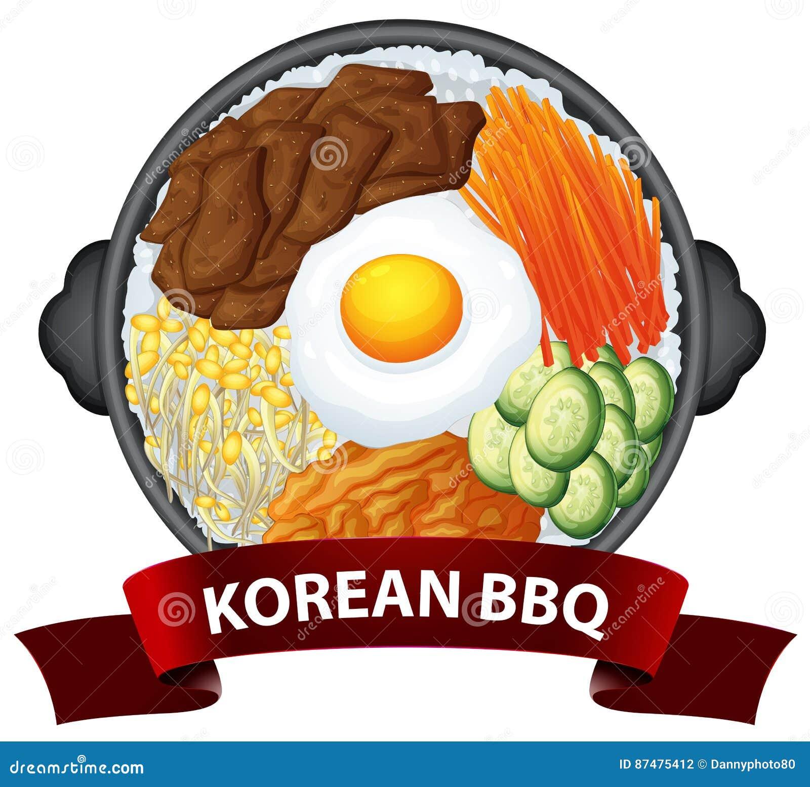 Корейский BBQ на подносе