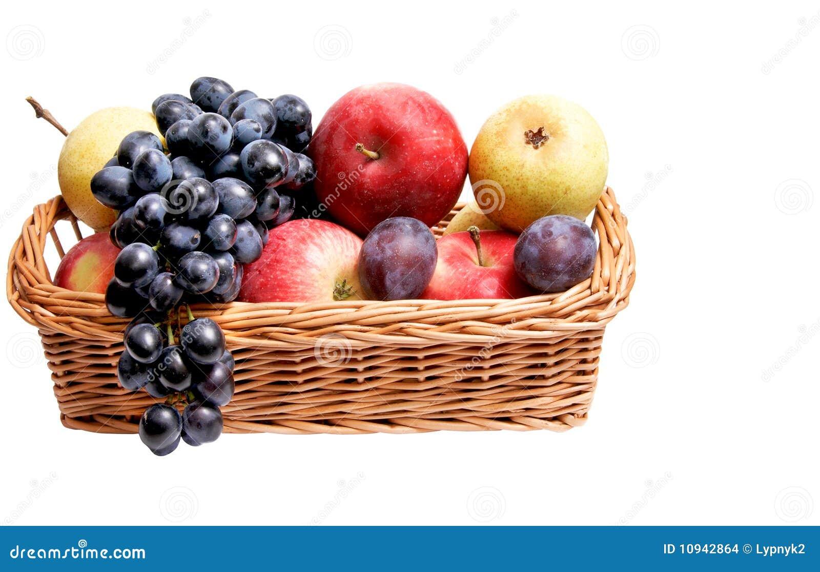 корзина осени fruits зрелое деревянное