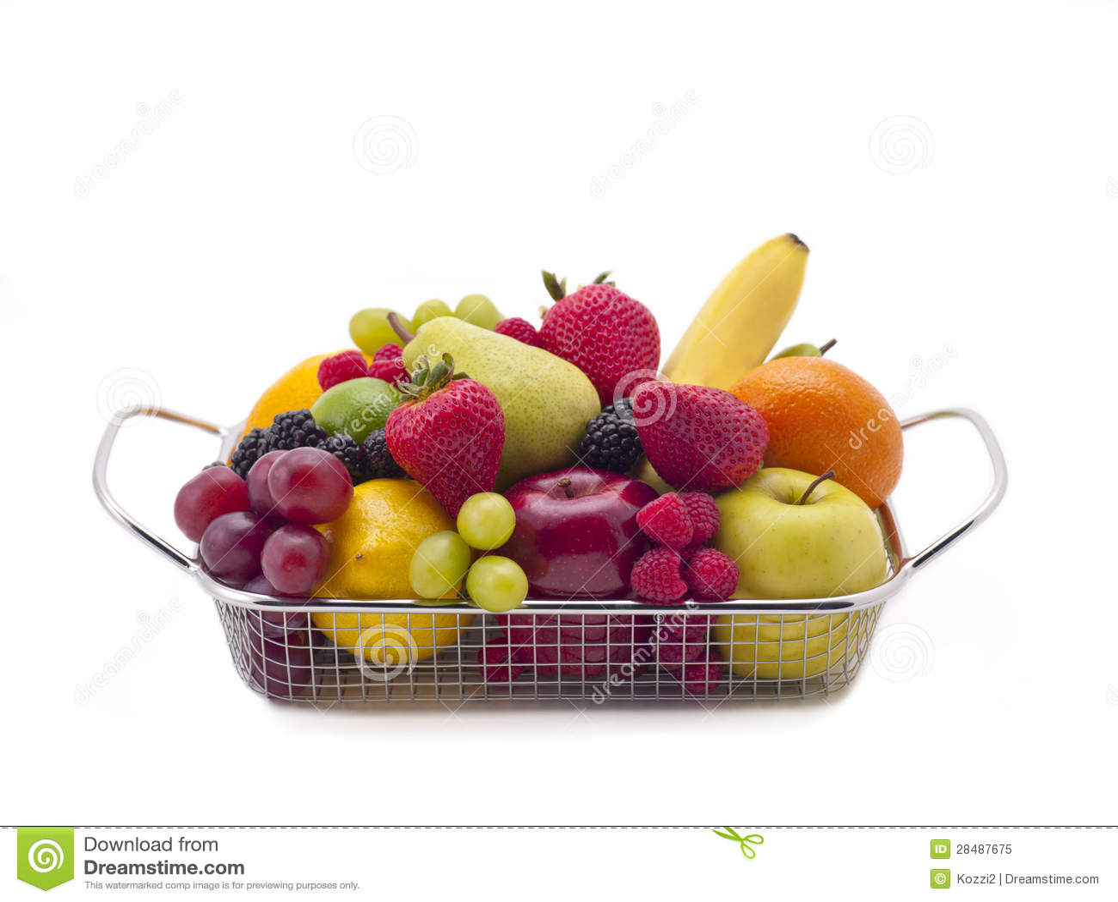 Корзина свежих фруктов