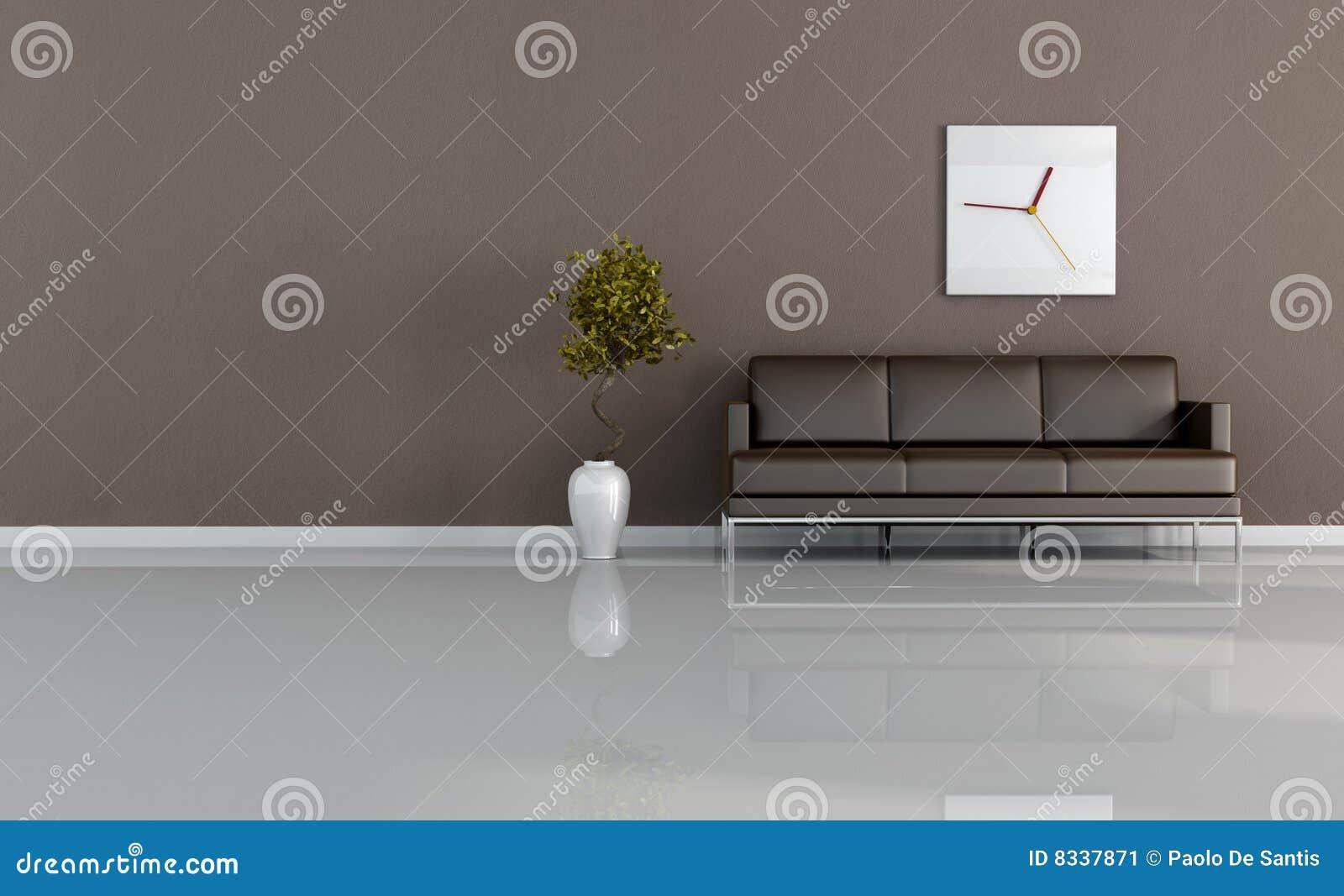 коричневая живущая комната