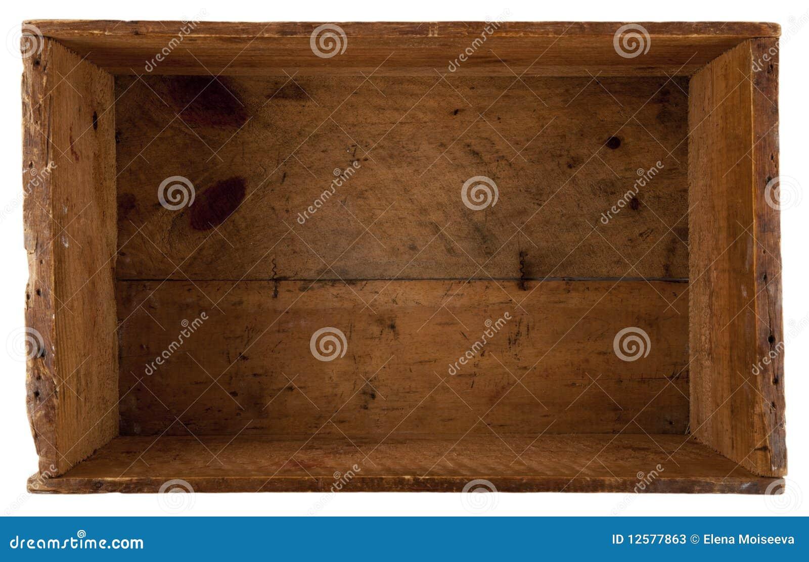 коробка внутри старое деревянного