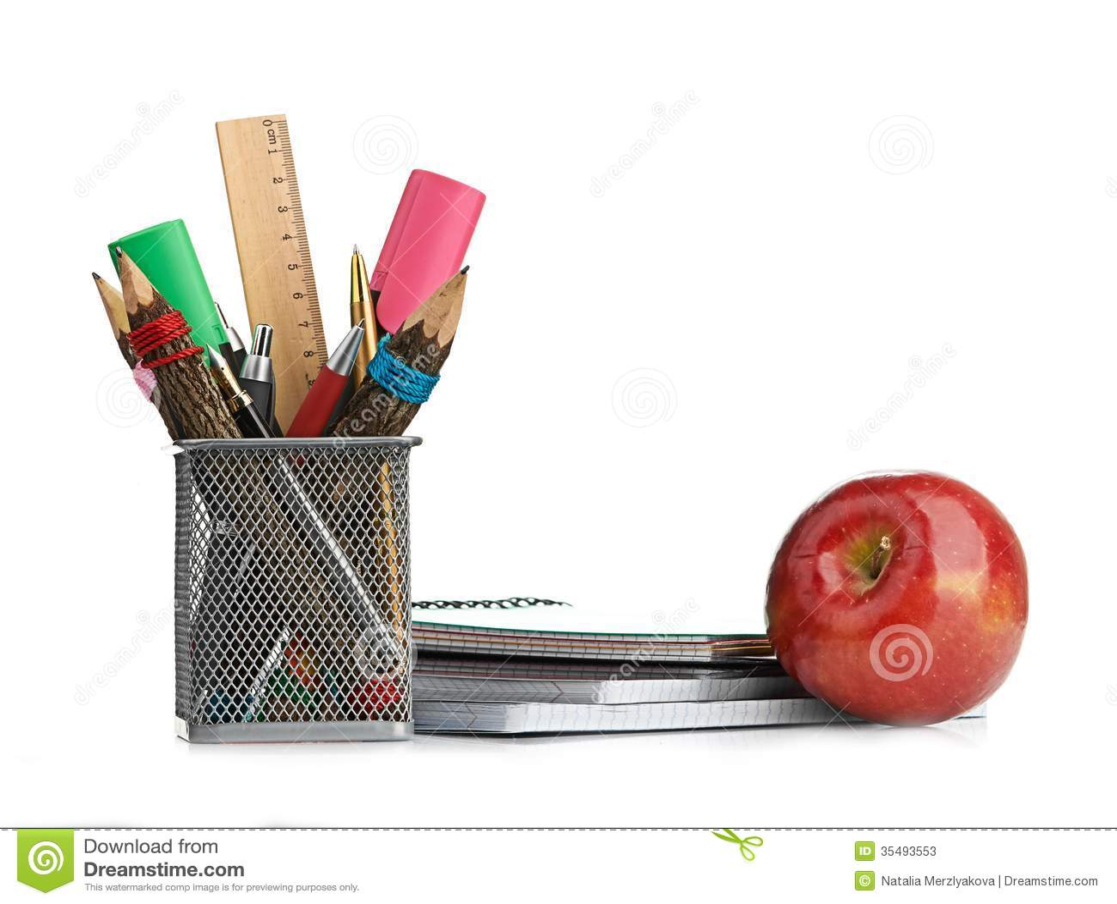 Коробка карандаша с оборудованием школы