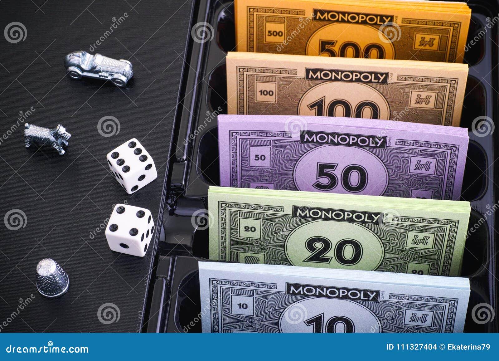 денег для настольной игры монополия