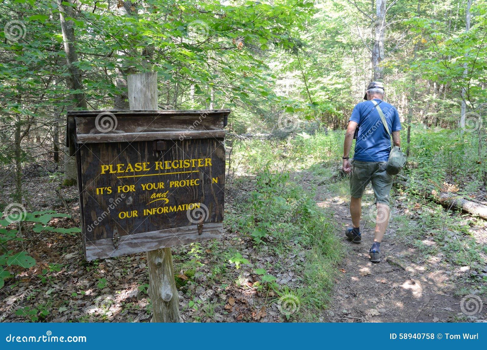 Коробка регистрации Hiker, Adirondacks