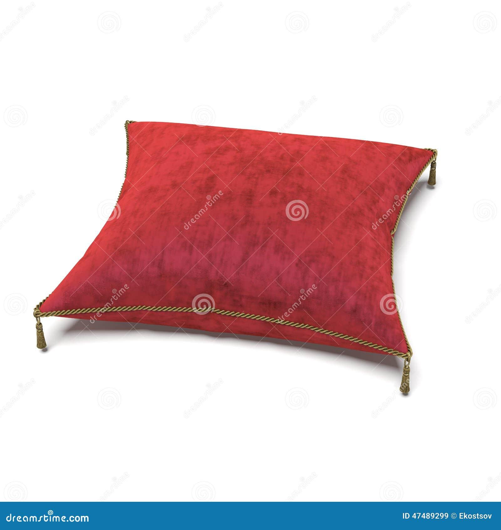 Королевская красная подушка бархата