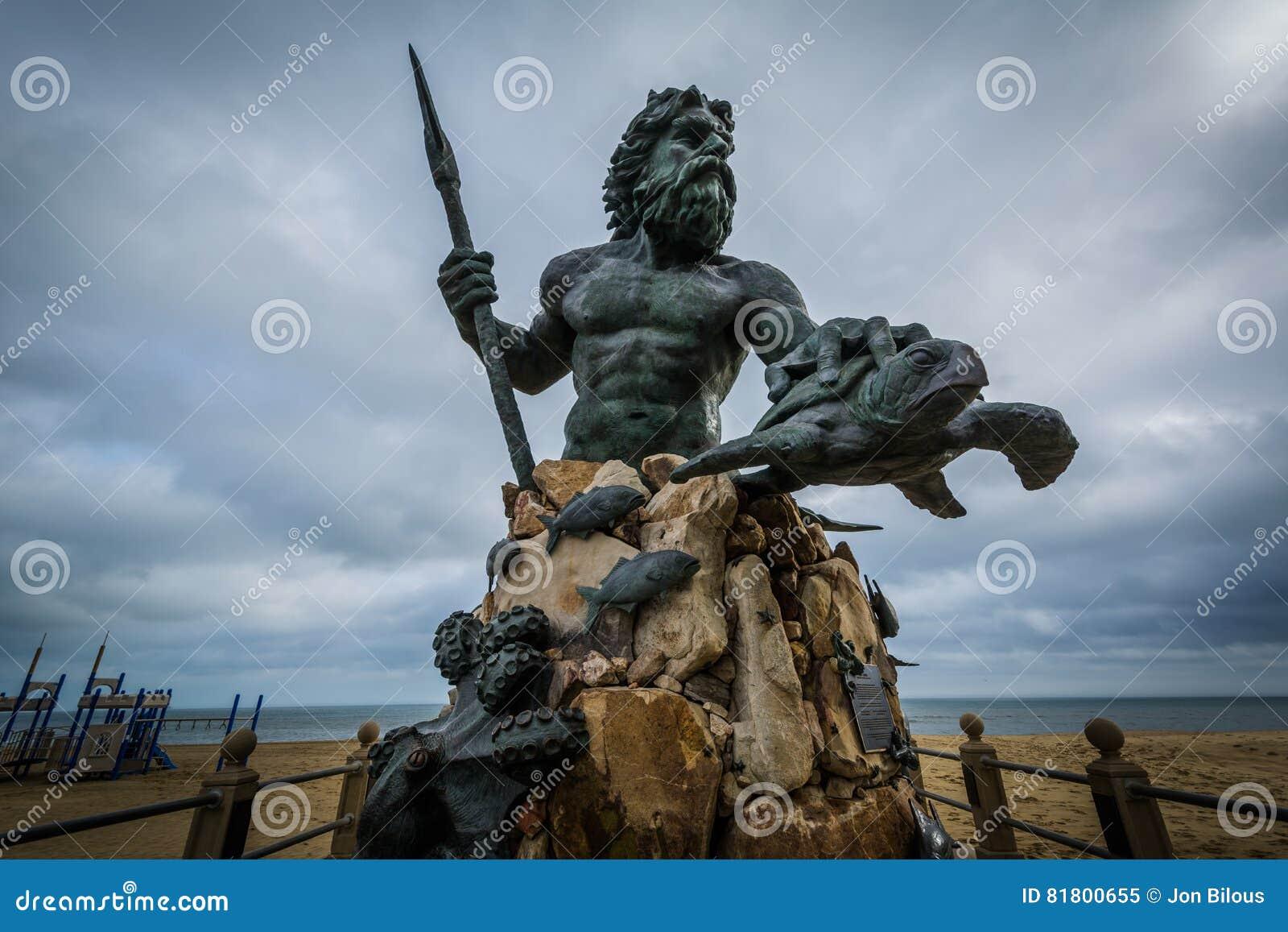 Король Нептун Статуя в Virginia Beach, Вирджинии