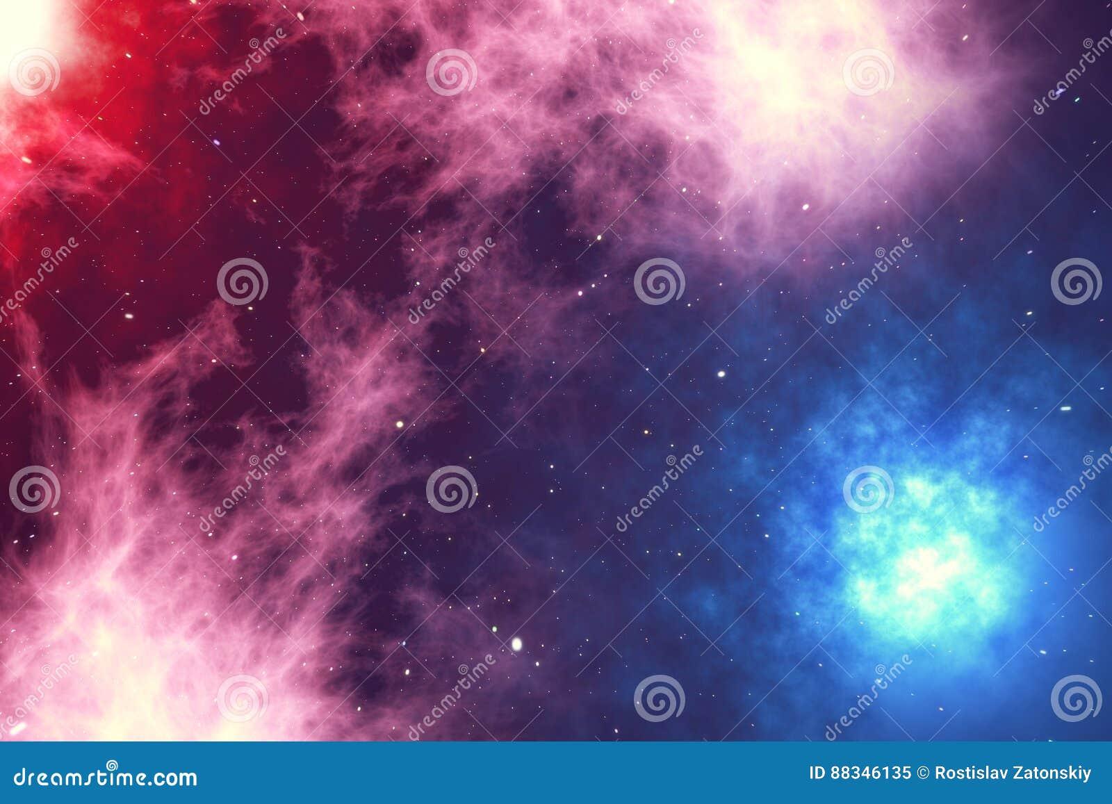 Космическое пространство заполнено с бесконечным числом звезд, галактик, межзвёздных облаков Красивейшая цветастая предпосылка пе
