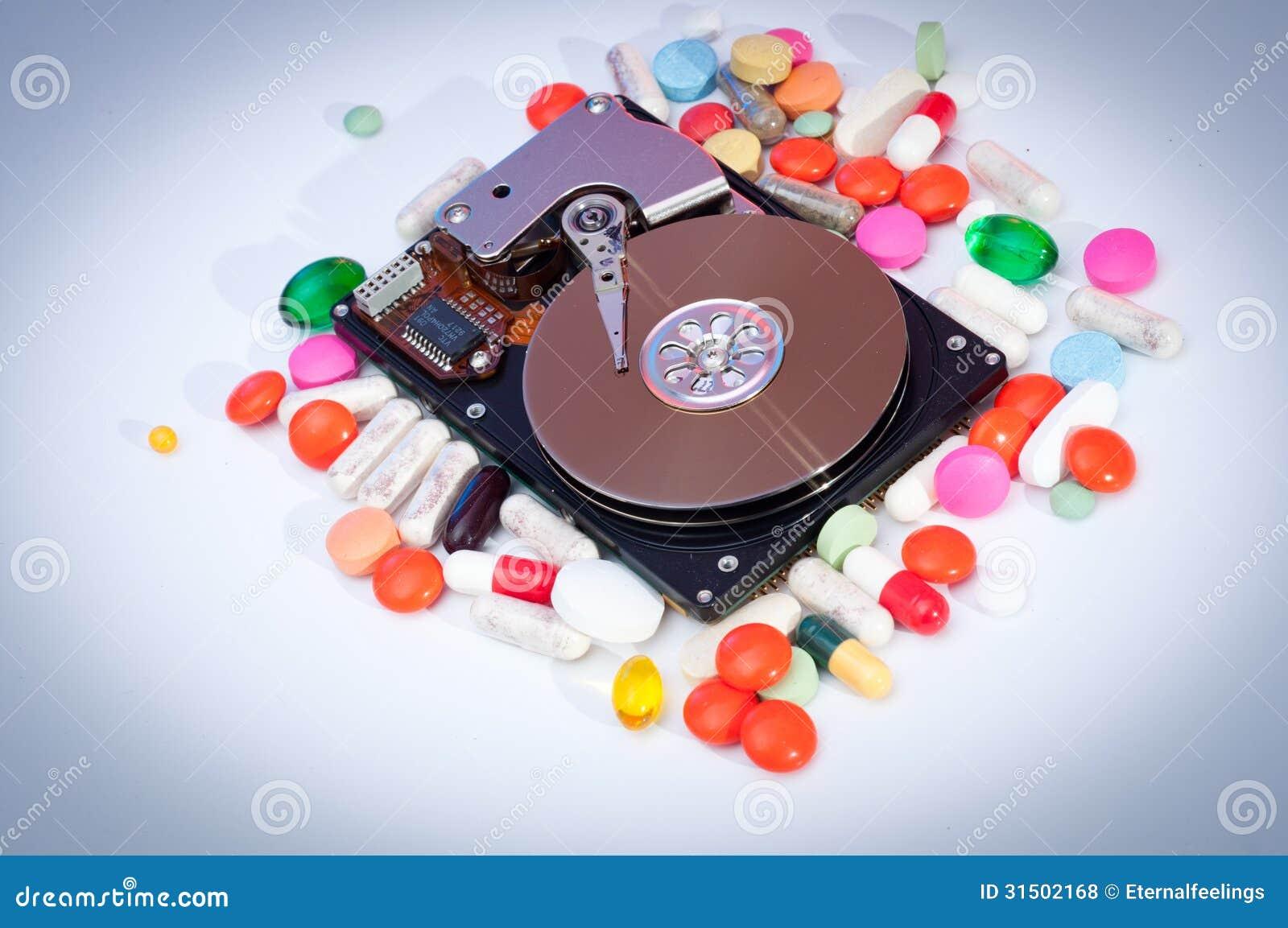 , который подвергли действию жесткий диск