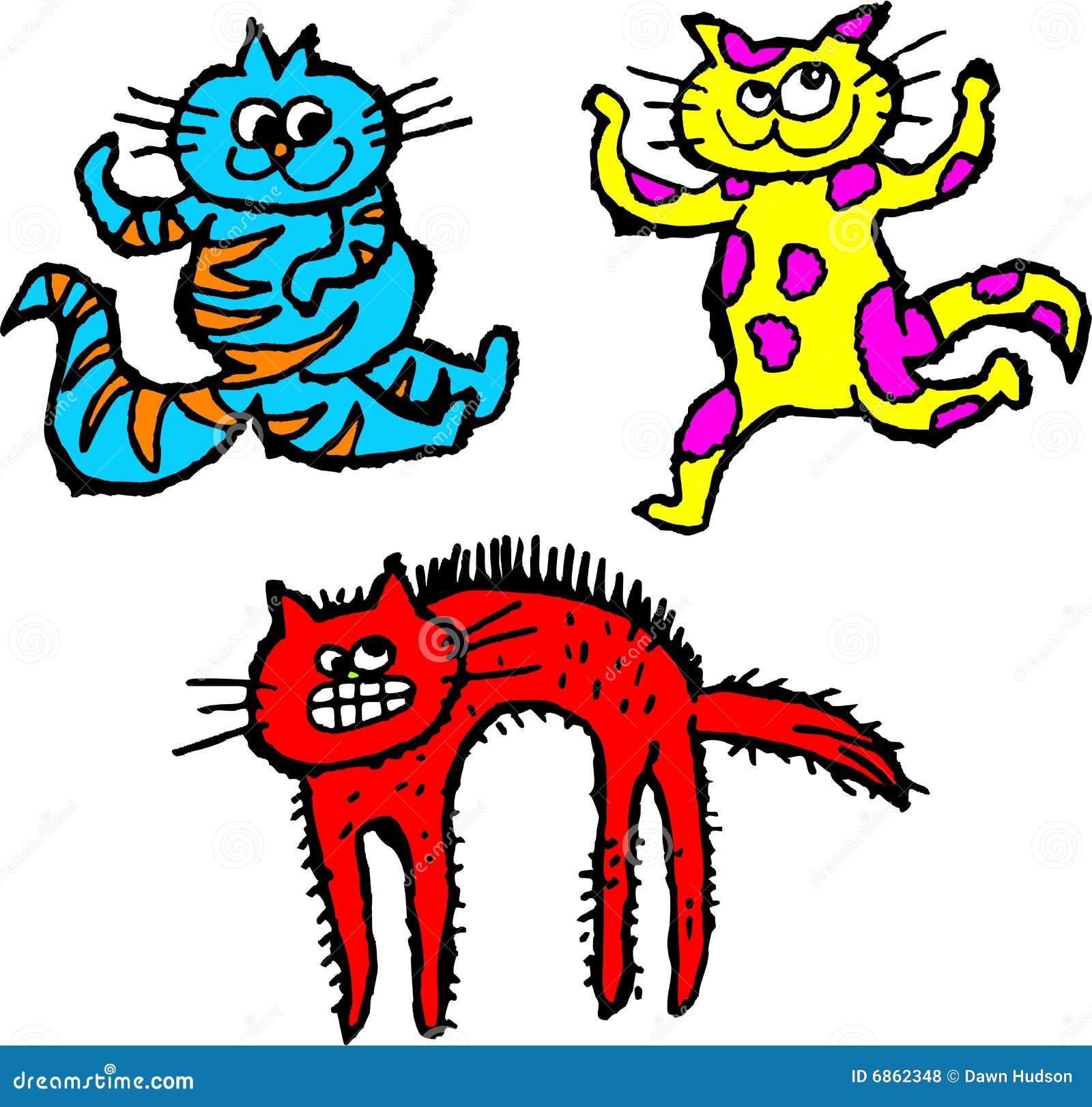 коты неухоженные