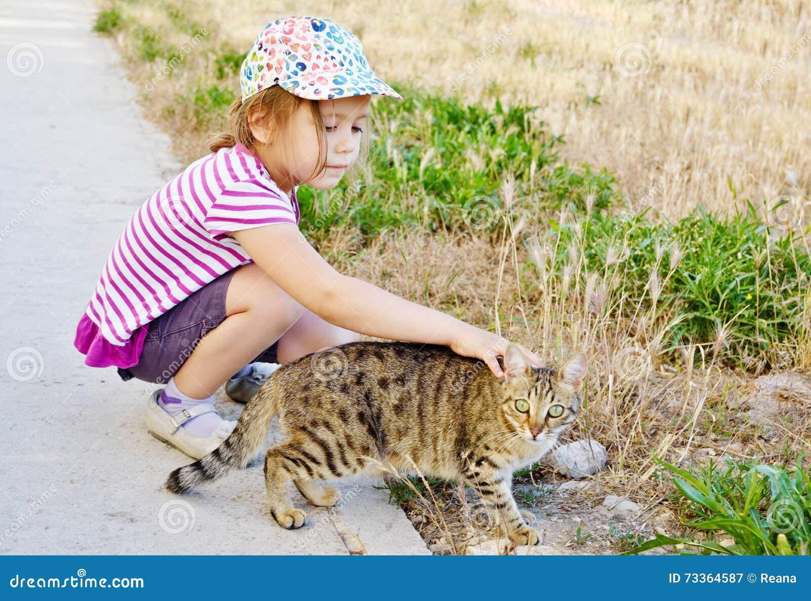 Кот девушки и переулка