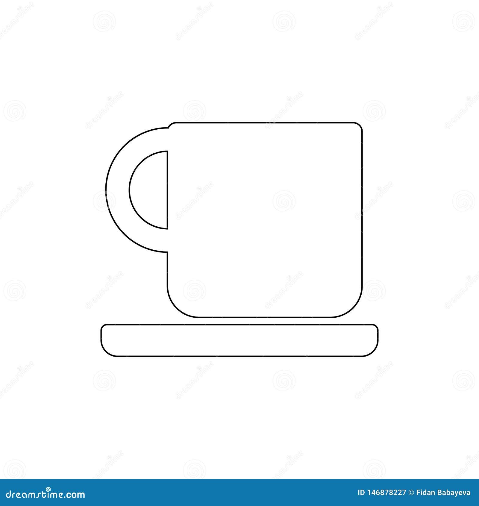 Кофейная чашка на значке плана плиты r