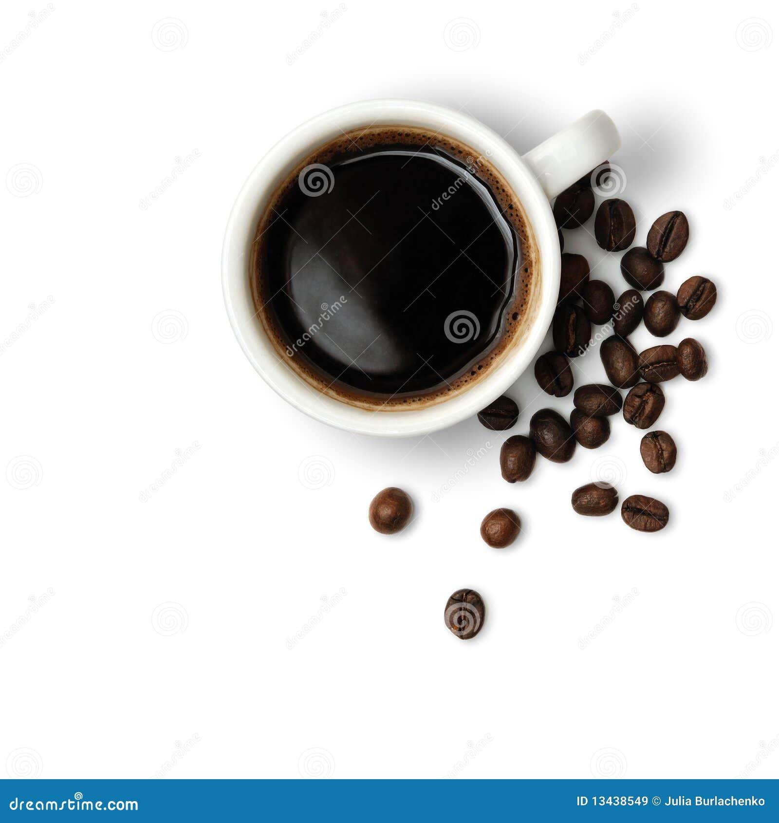 кофейная чашка фасолей