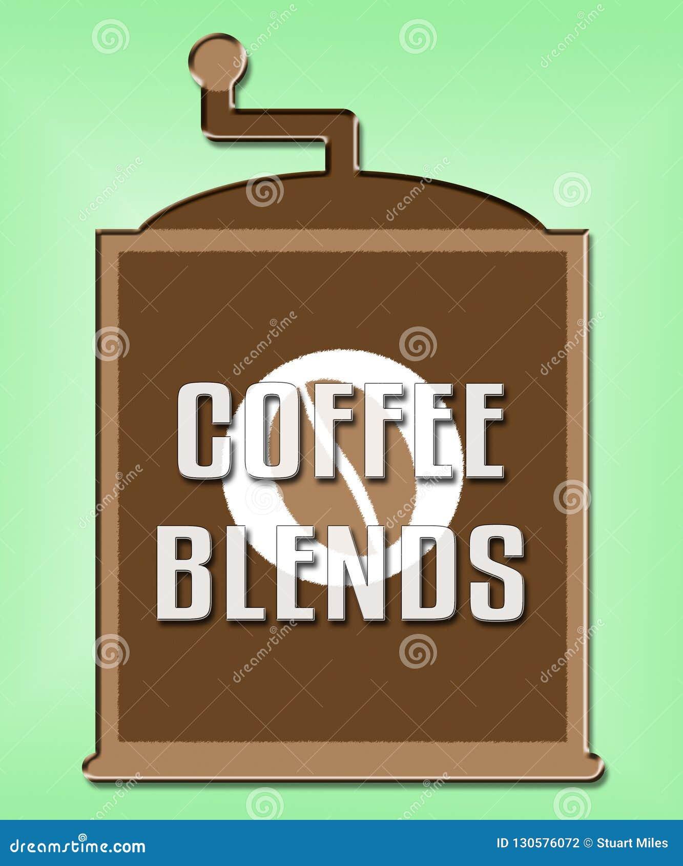 Кофе смешивает смесь или типы смешанные шоу