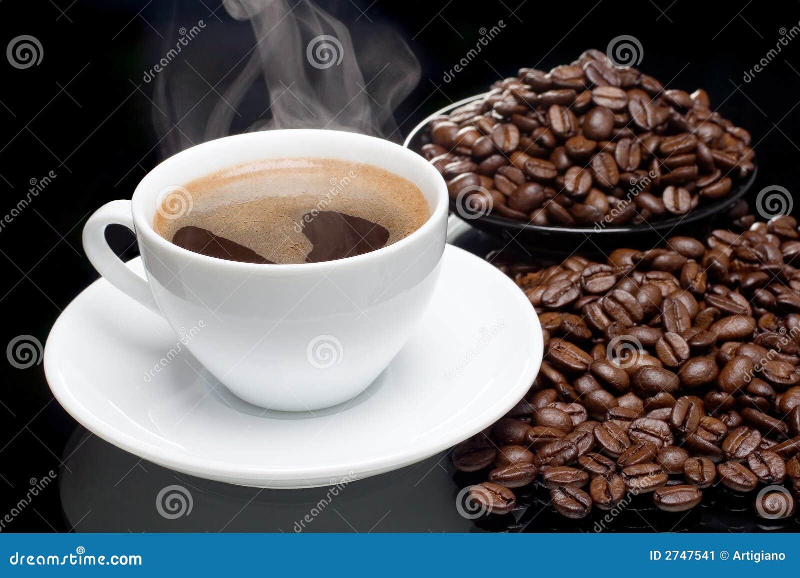Кофе с кофе-фасолями