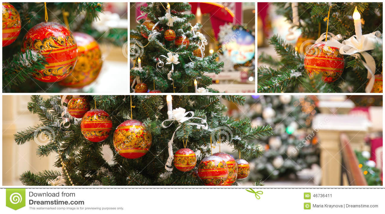 Коллаж рождественской елки