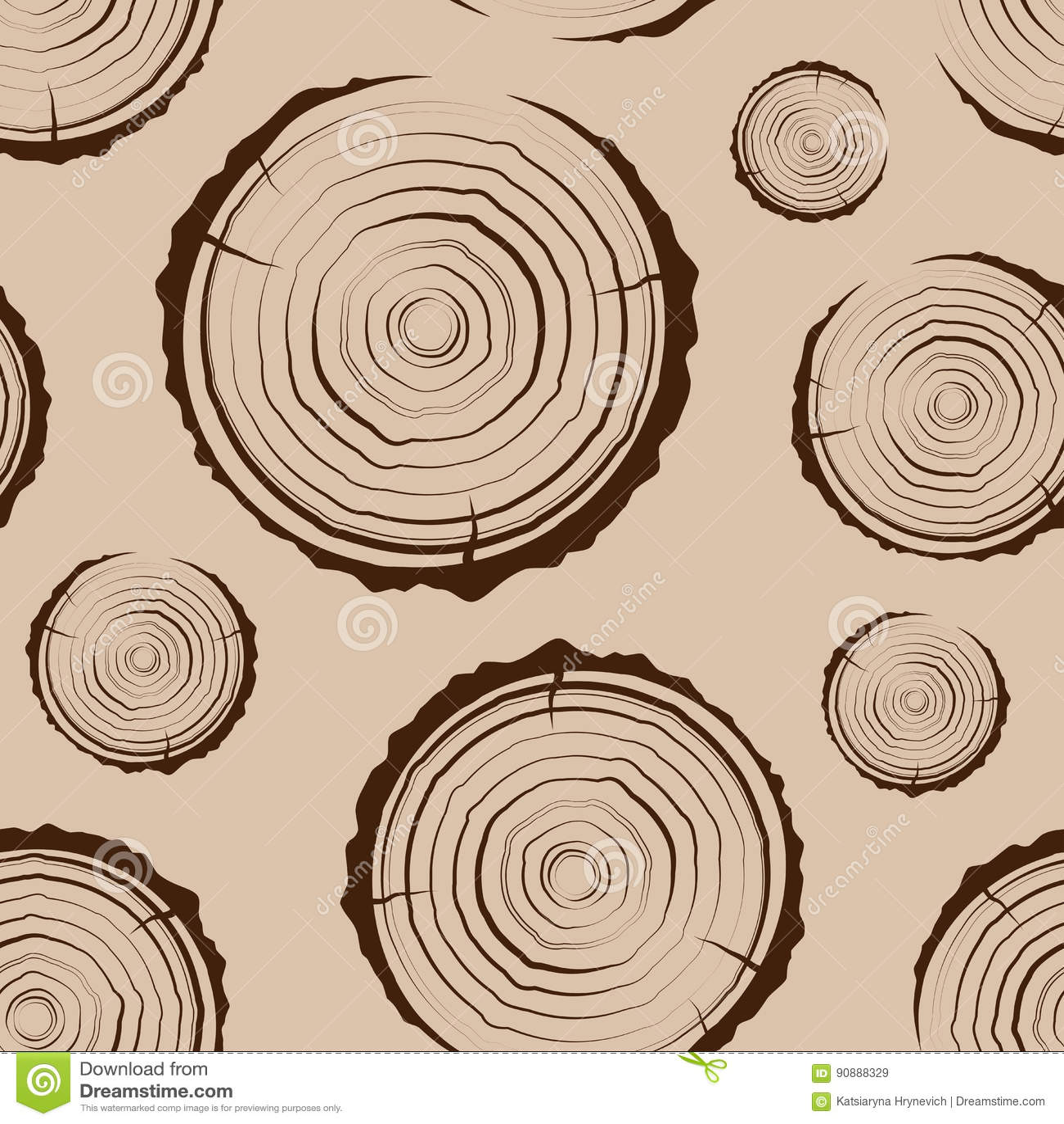 Кольца дерева безшовные Пила отрезала предпосылку ствола дерева Поперечное сечение хобота с кольцами дерева