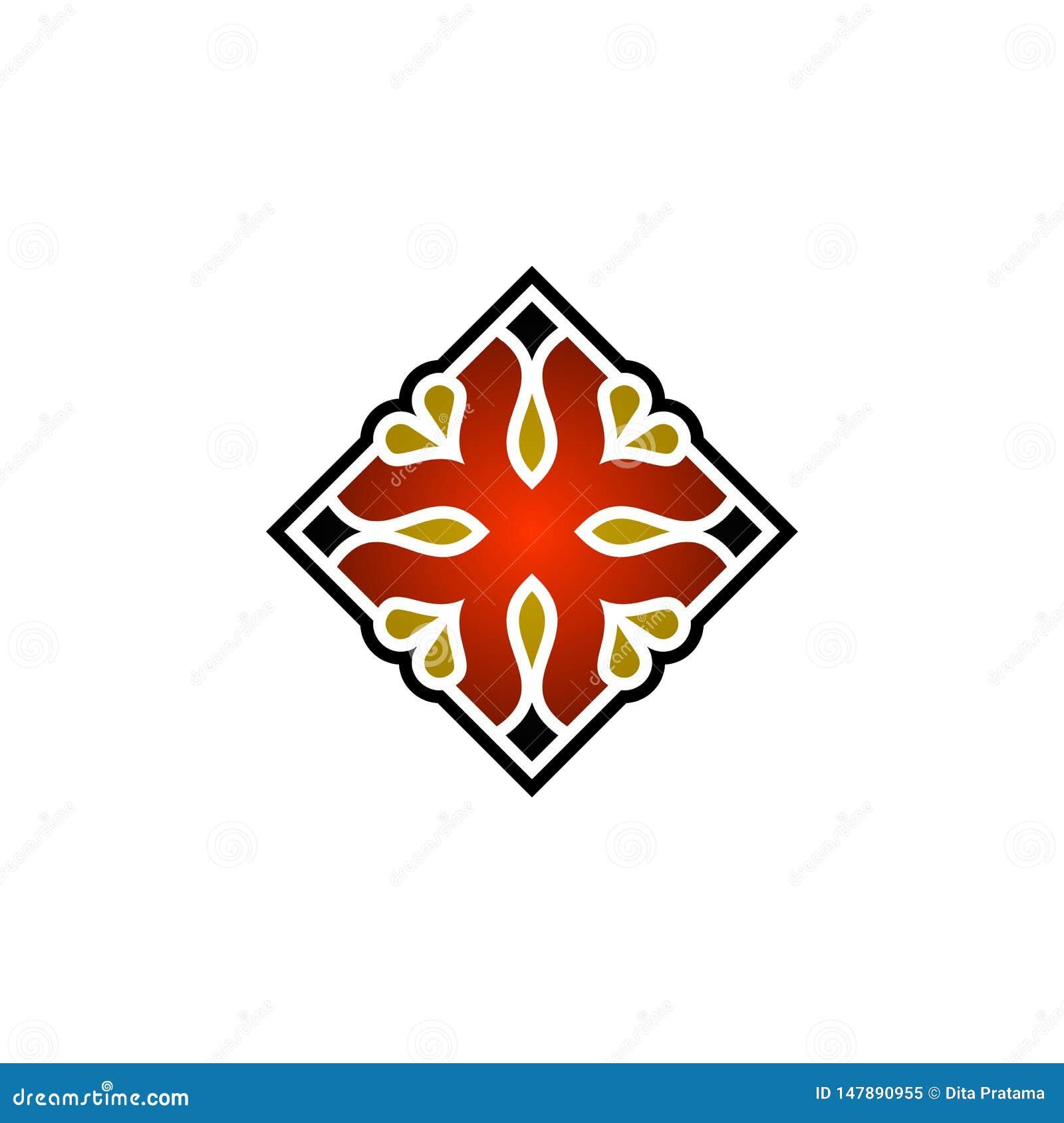 Красивая абстрактная квадратная иллюстрация орнамента