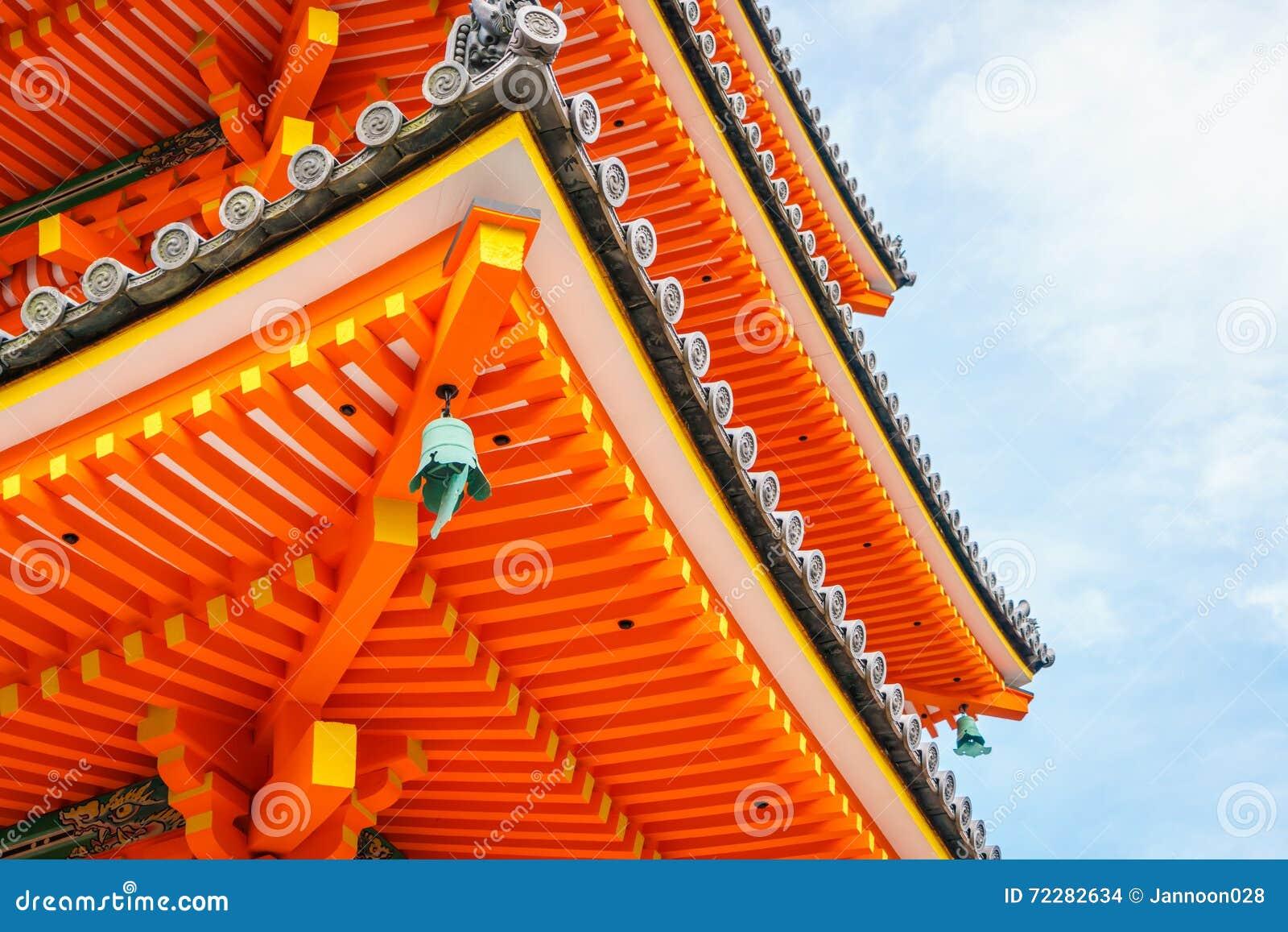 Download Красивая архитектура в виске Киото Kiyomizu-dera, Японии Стоковое Фото - изображение насчитывающей сумерк, культура: 72282634