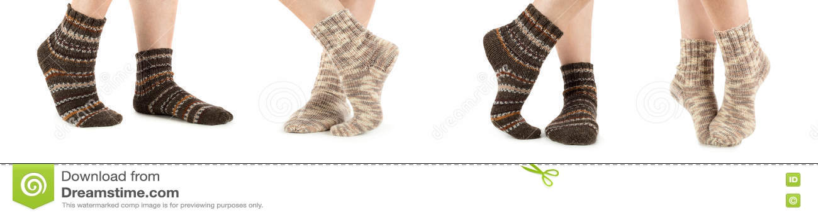 Красивая женщина ног с носками