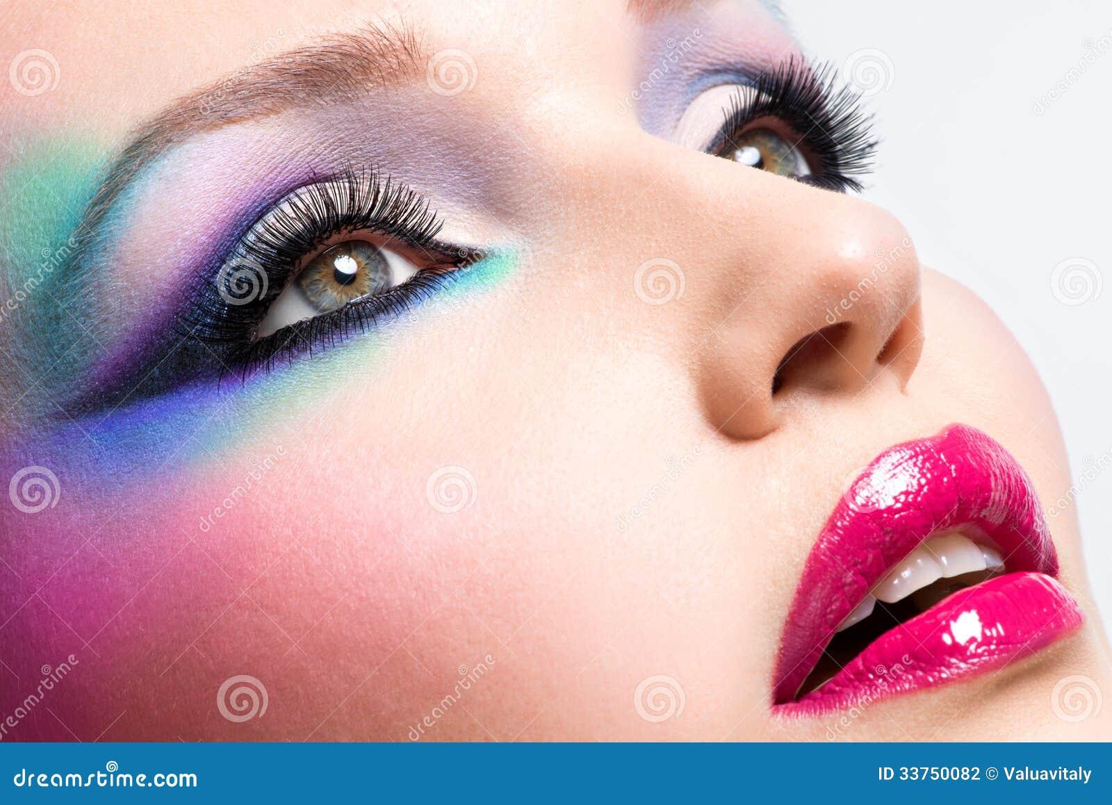Красивая женщина с составом моды ярким