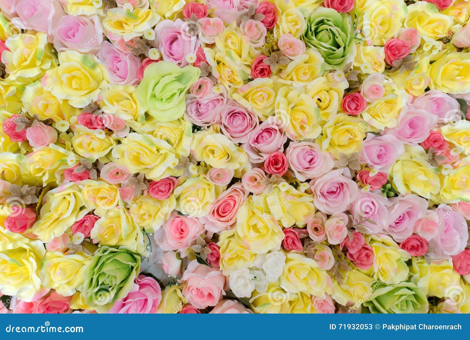 Красивая искусственная предпосылка цветка роз