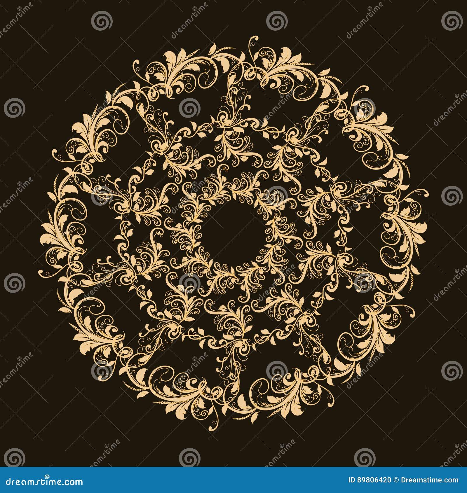 Красивая круговая картина флористического