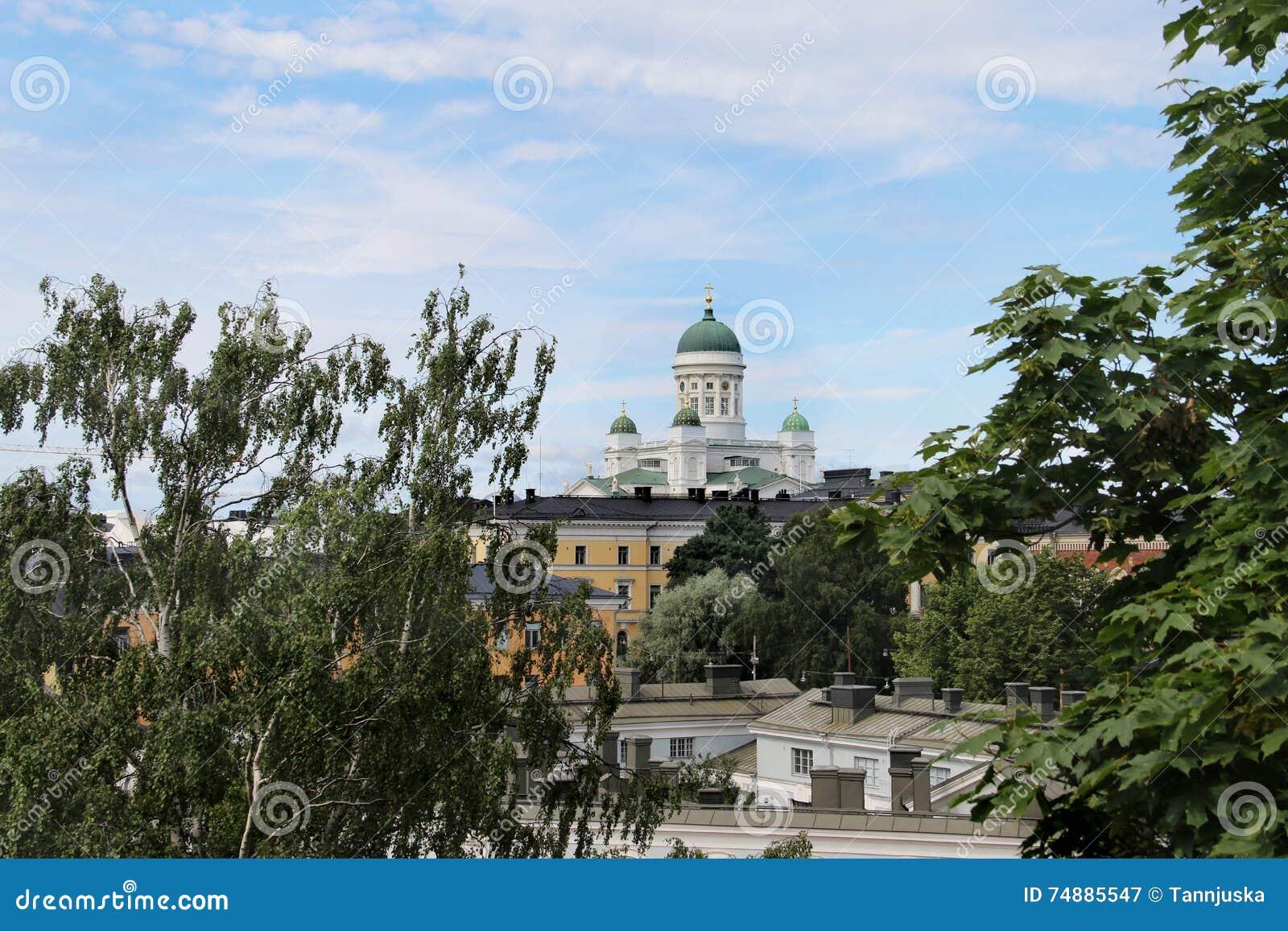 Красивая панорама Хельсинки, Финляндии