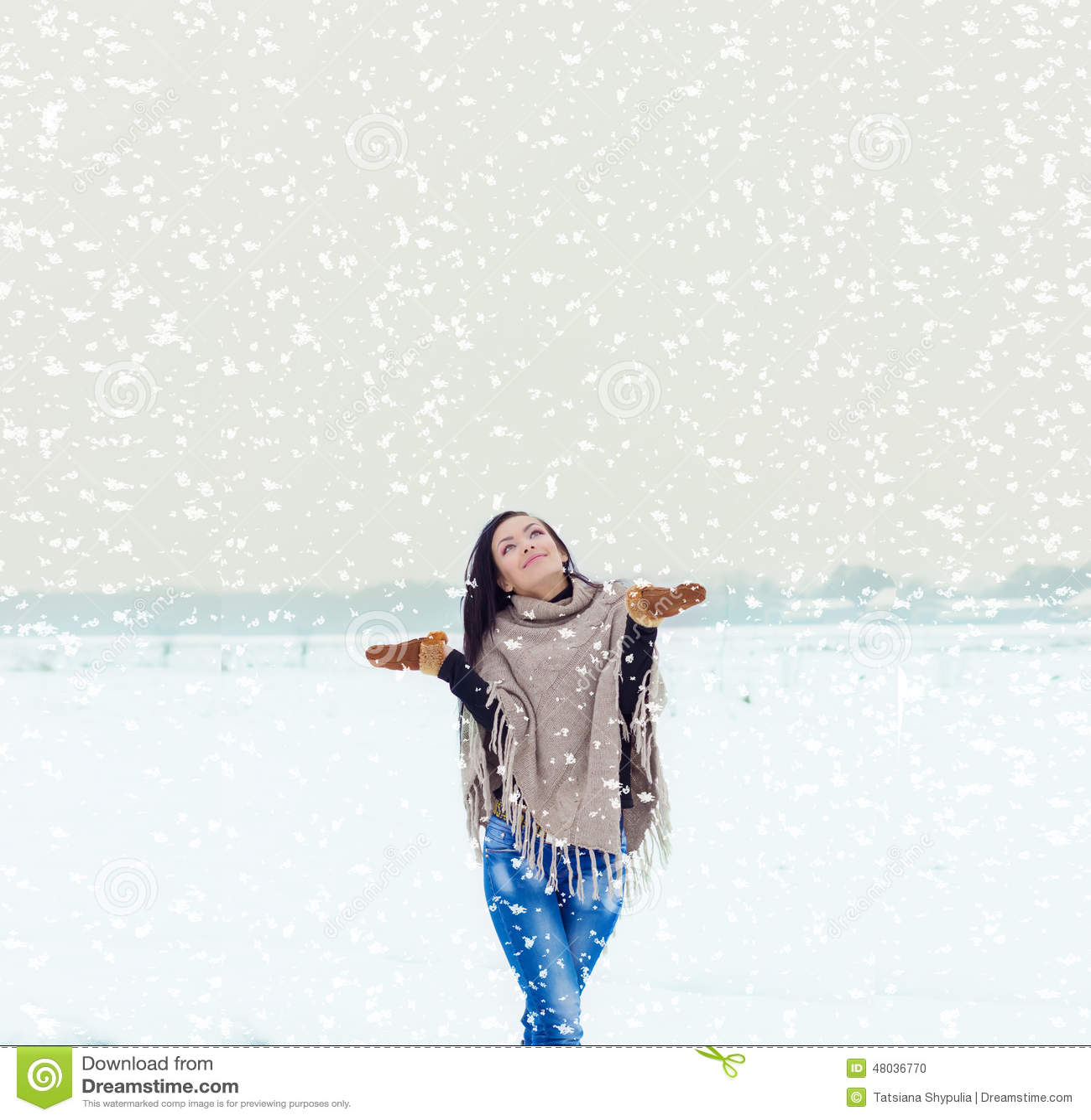 зимняя картинка я счастлива