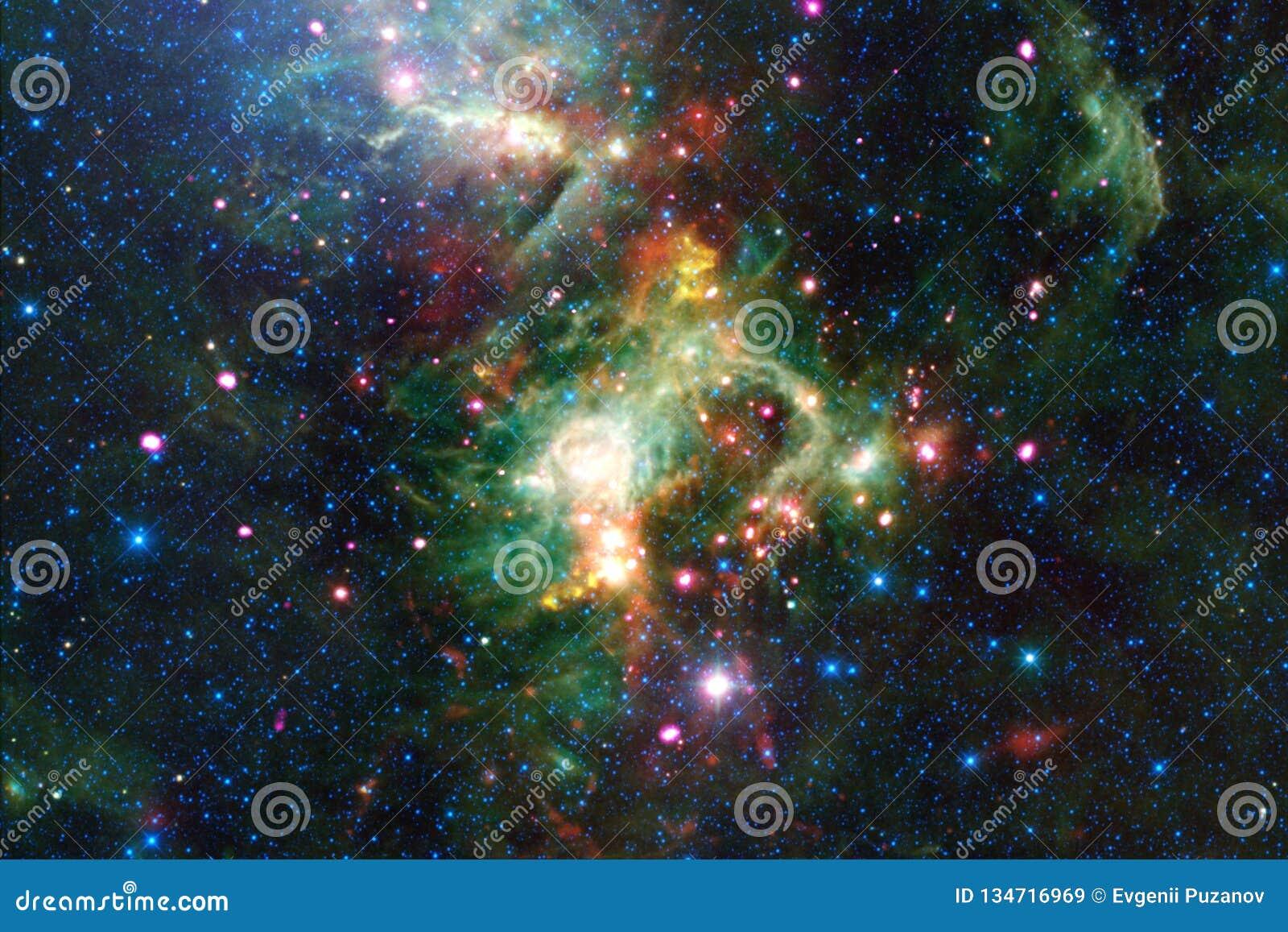Красивейшая предпосылка космоса Искусство Cosmoc Элементы этого изображения поставленные NASA