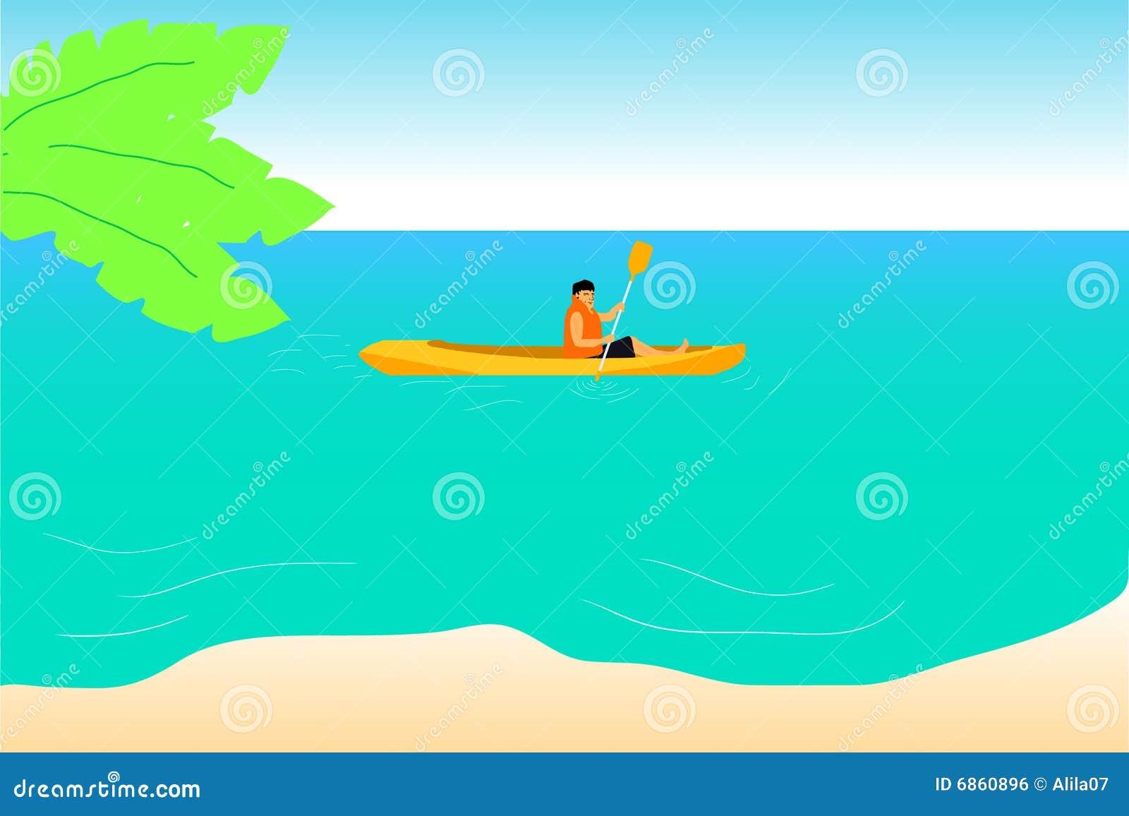 красивейшее голубое kayaking море