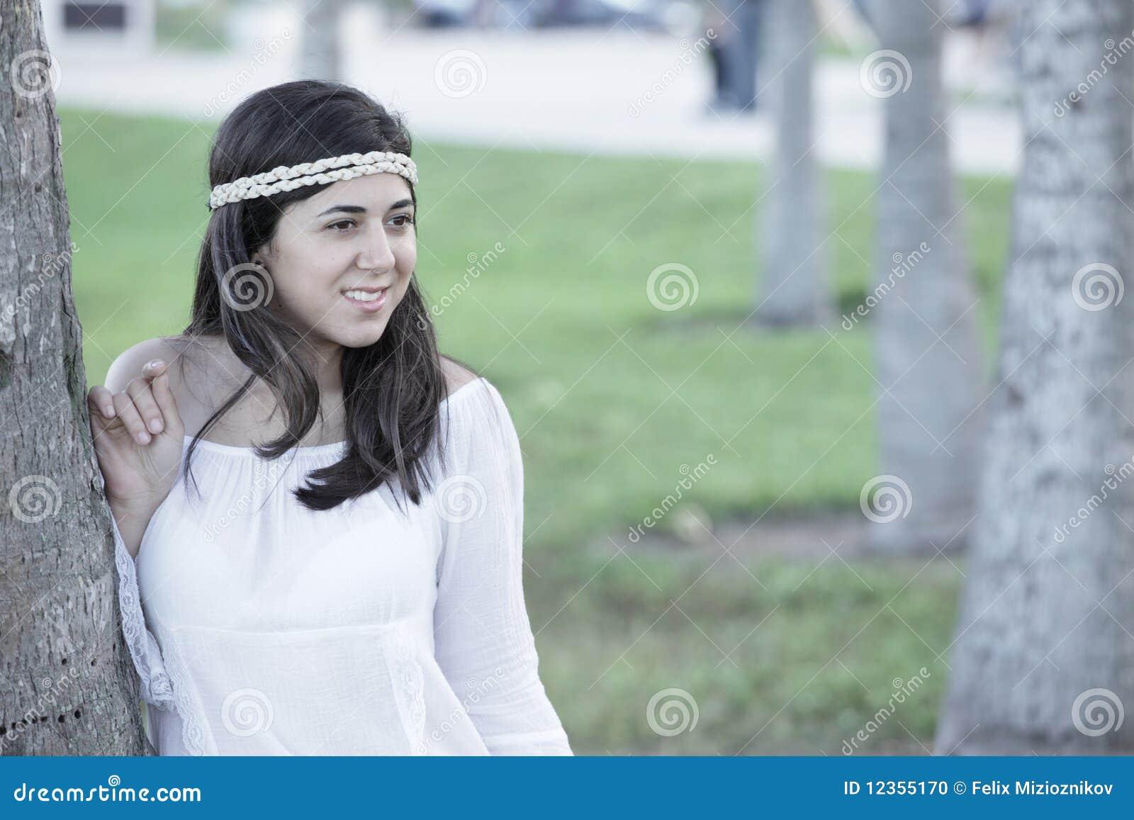 красивейшие детеныши женщины парка