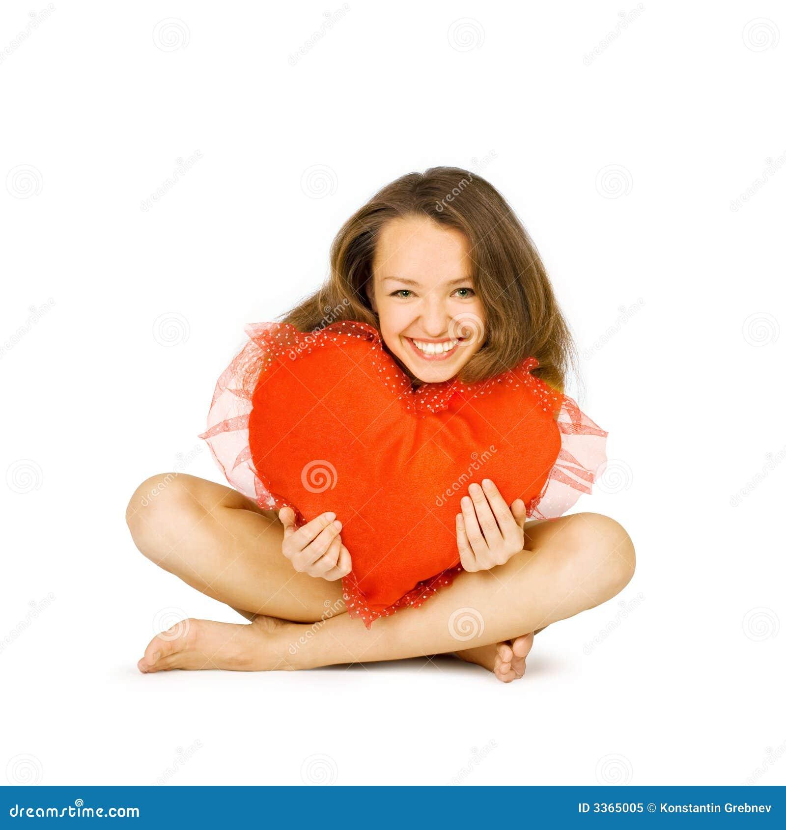 красивейший красный цвет девушки embraces