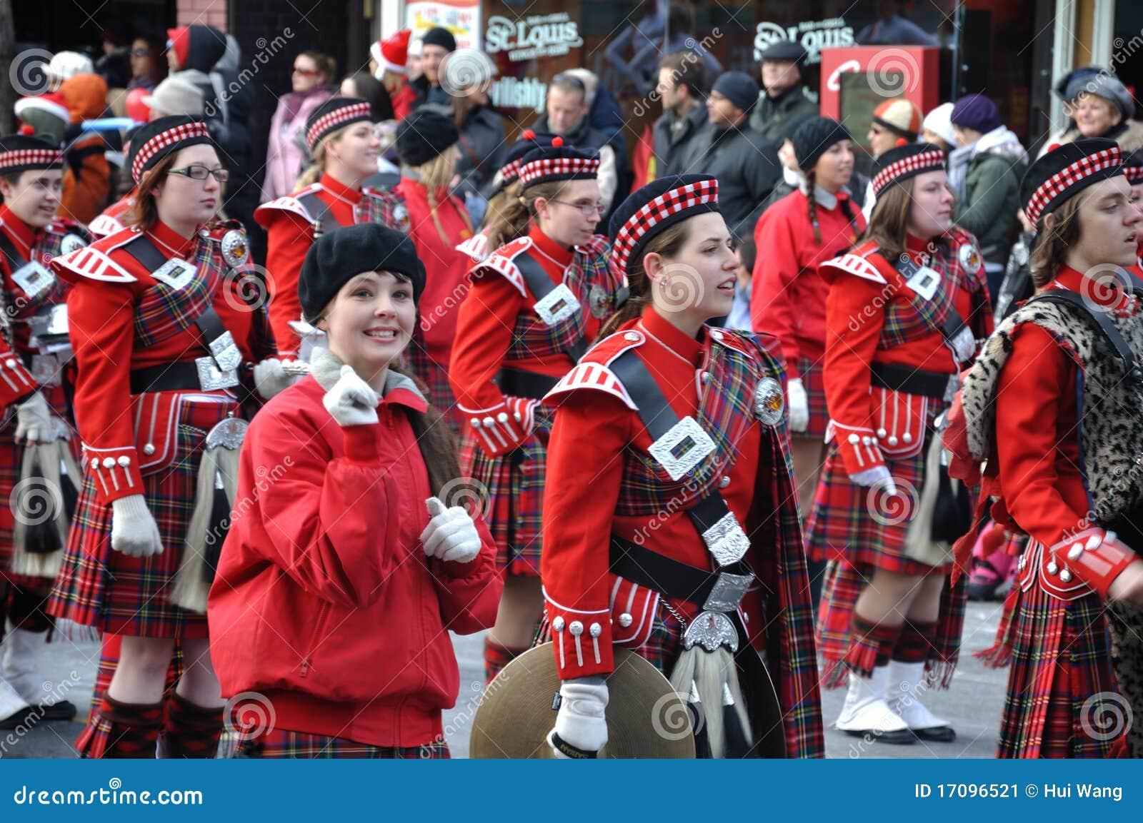 красивейший парад santa девушки