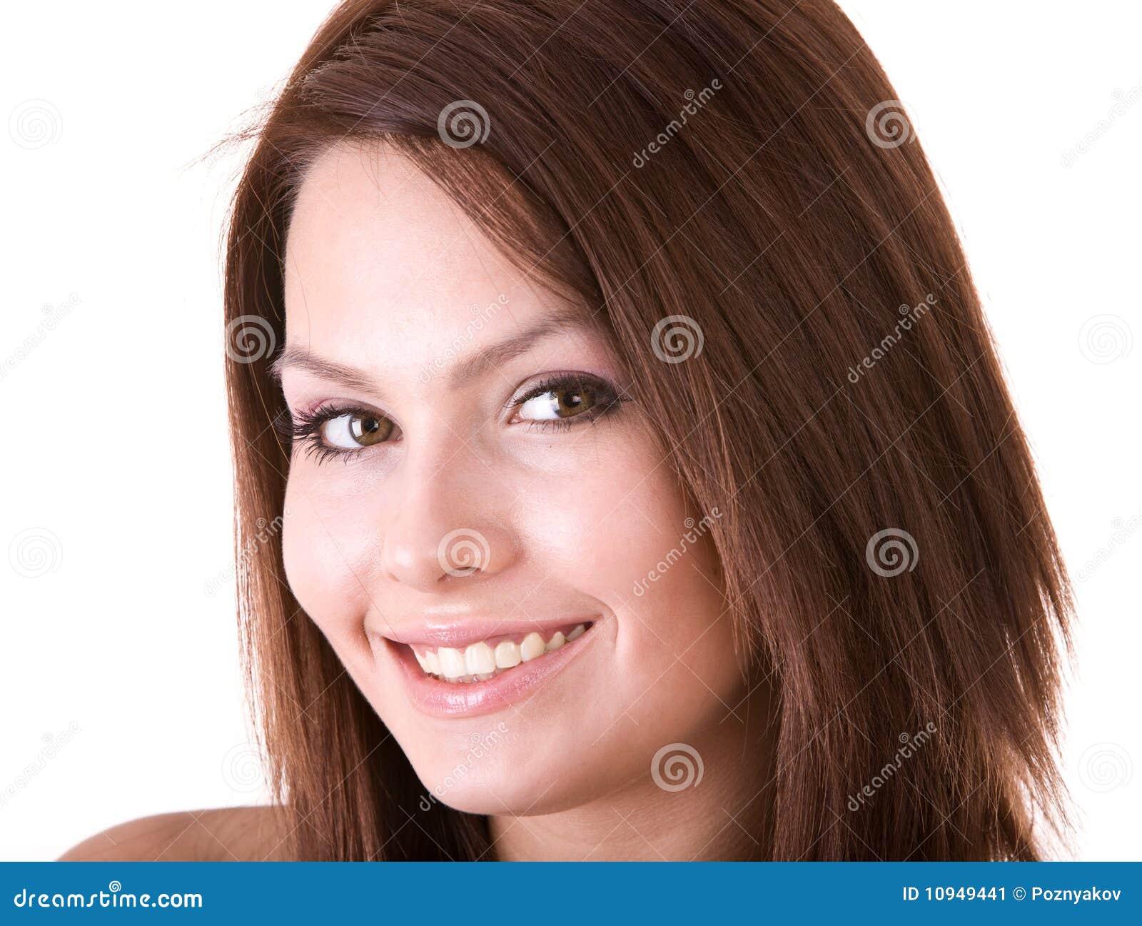 красивейший усмехаться девушки стороны