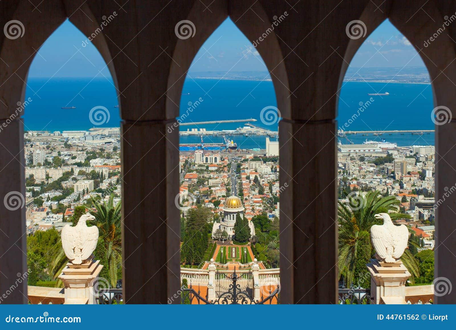 Красивое изображение садов Bahai в Хайфе Израиле
