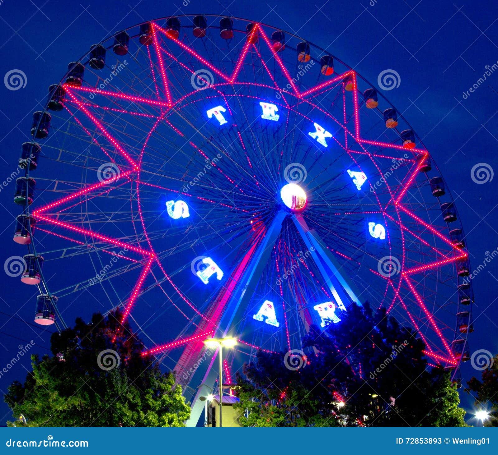 Красивые сцены ночи колеса Ferris