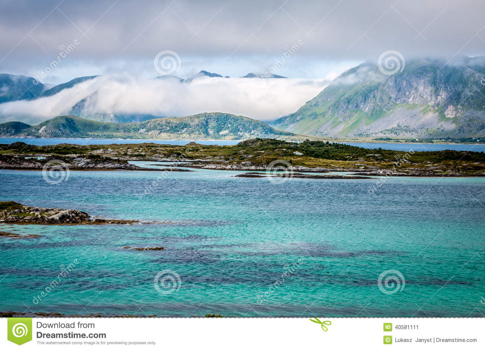 Красивый ландшафт Норвегии, Скандинавии