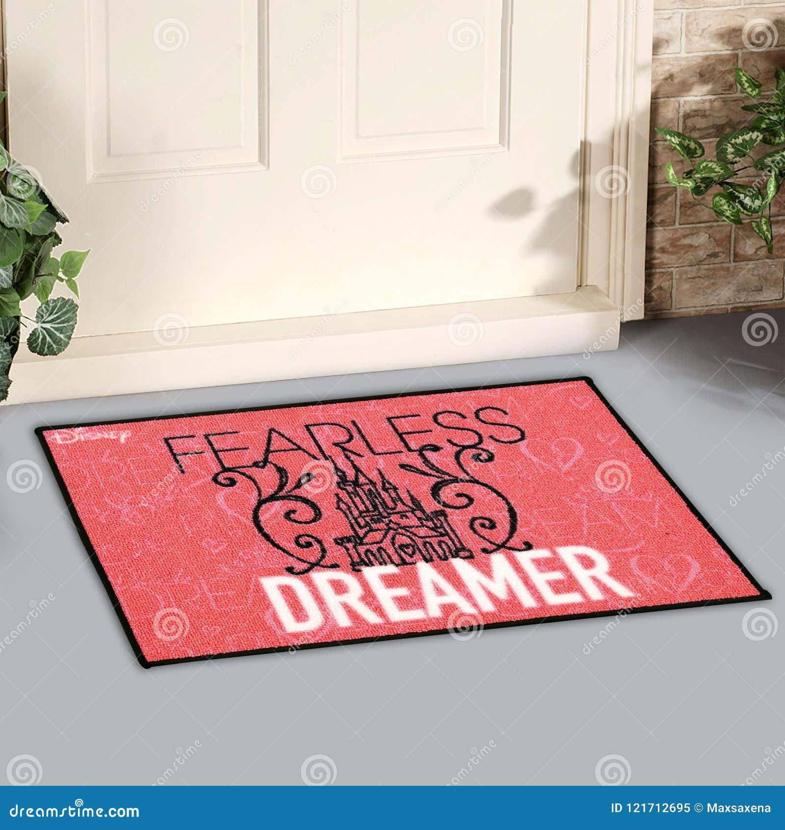 Красивый безбоязненный фантазер напечатал половик входа детей шерстяной радушный вне дома с желтыми цветками и листьями
