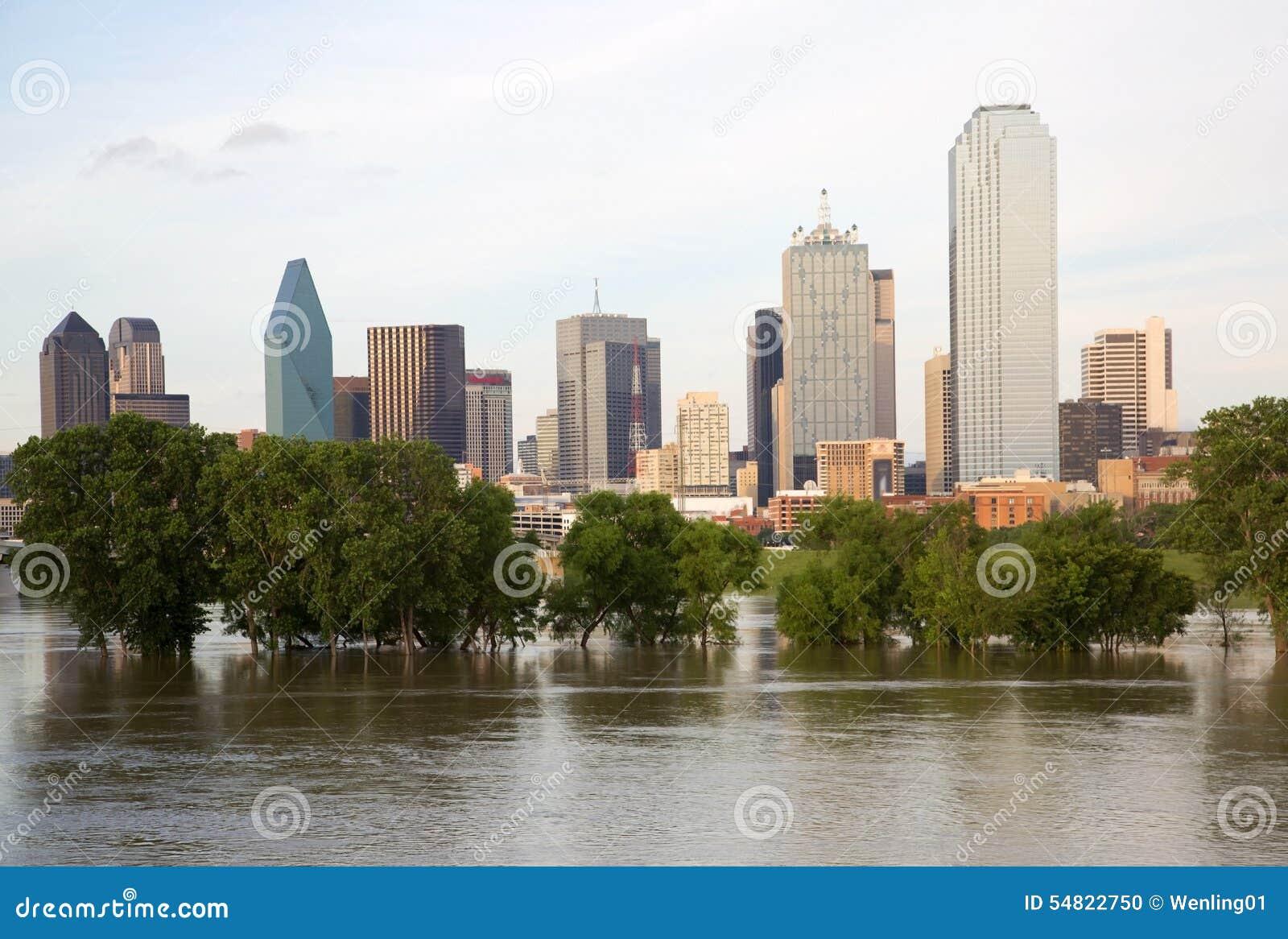 Красивый горизонт Далласа города