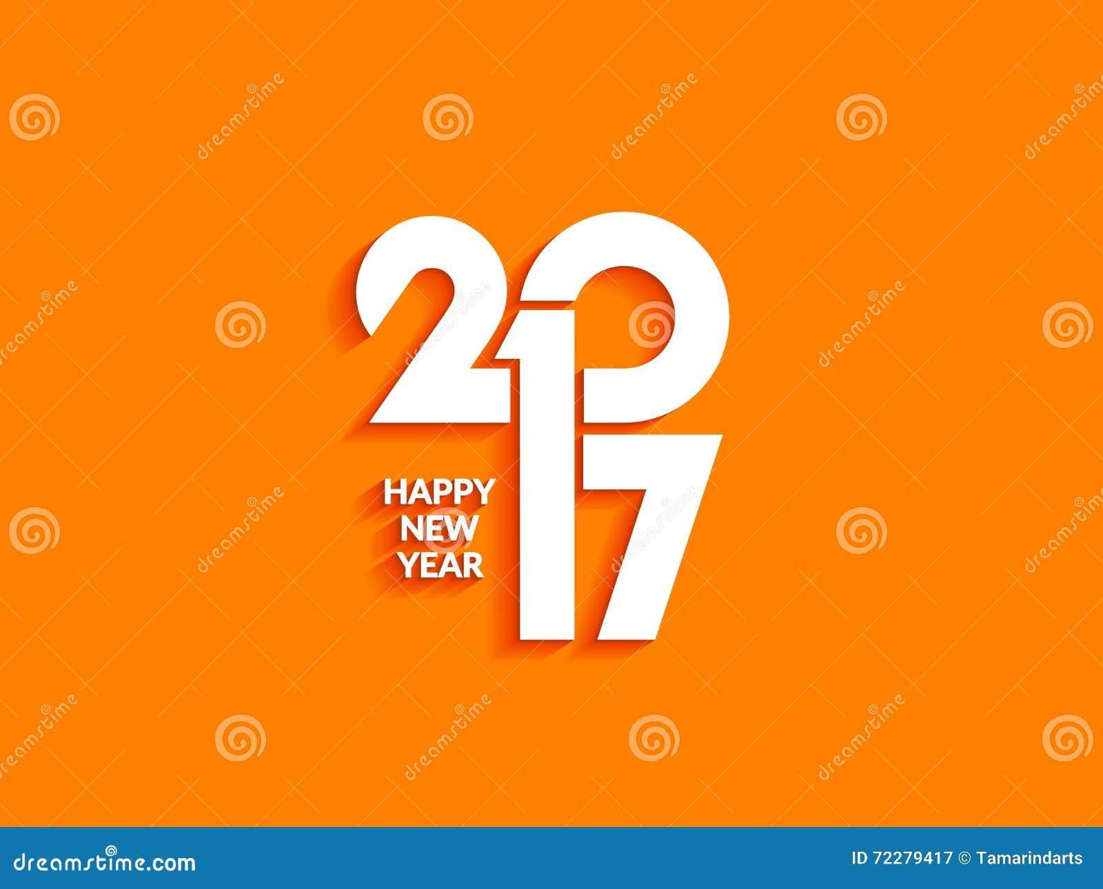 Download Красивый дизайн текста счастливого Нового Года 2017 Иллюстрация вектора - иллюстрации насчитывающей backhoe, бело: 72279417