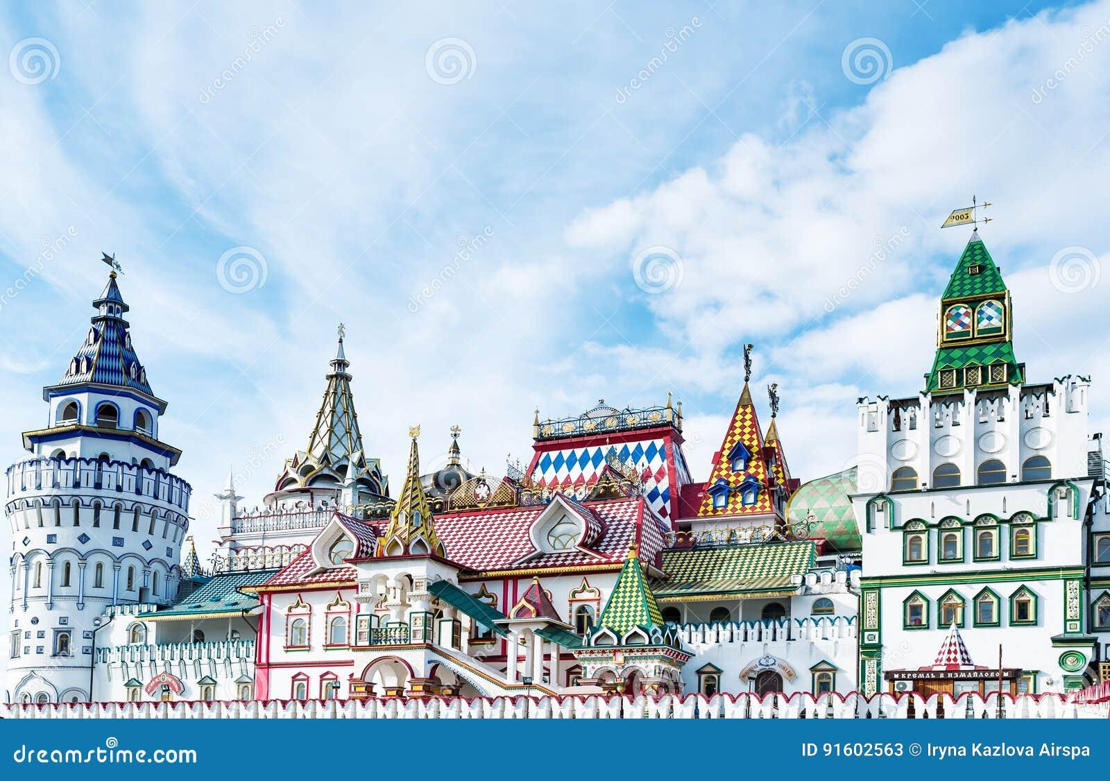 Красивый Кремль в Izmaylovo весной