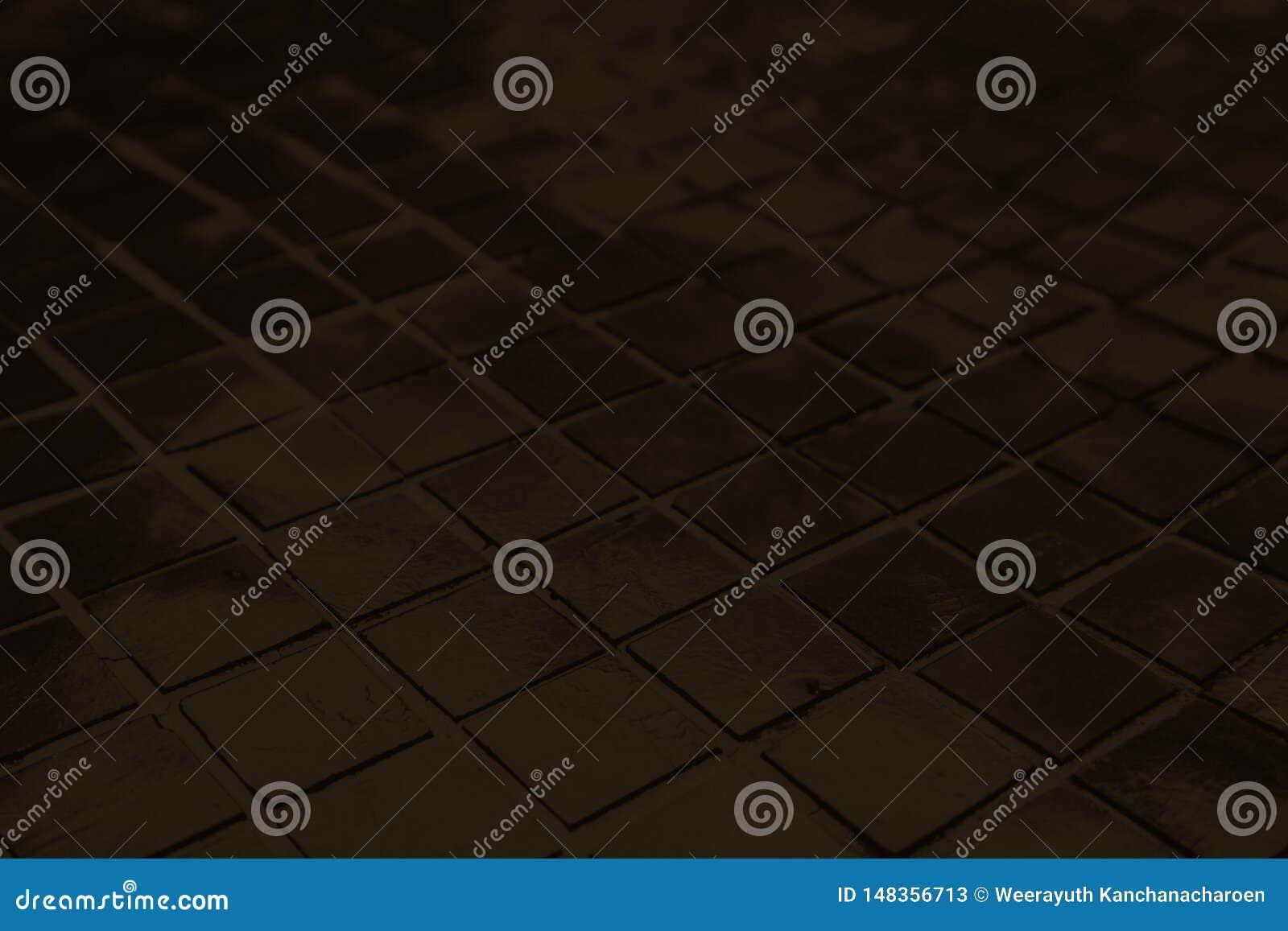 Красивый крупный план текстурирует абстрактные плитки и темную черную предпосылку стены картины цвета стеклянную и обои искусства