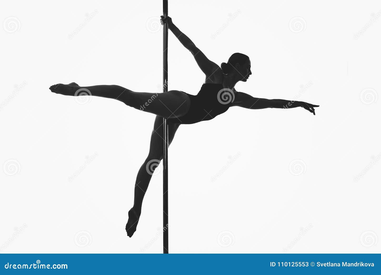 Красивый силуэт девушки танцора поляка