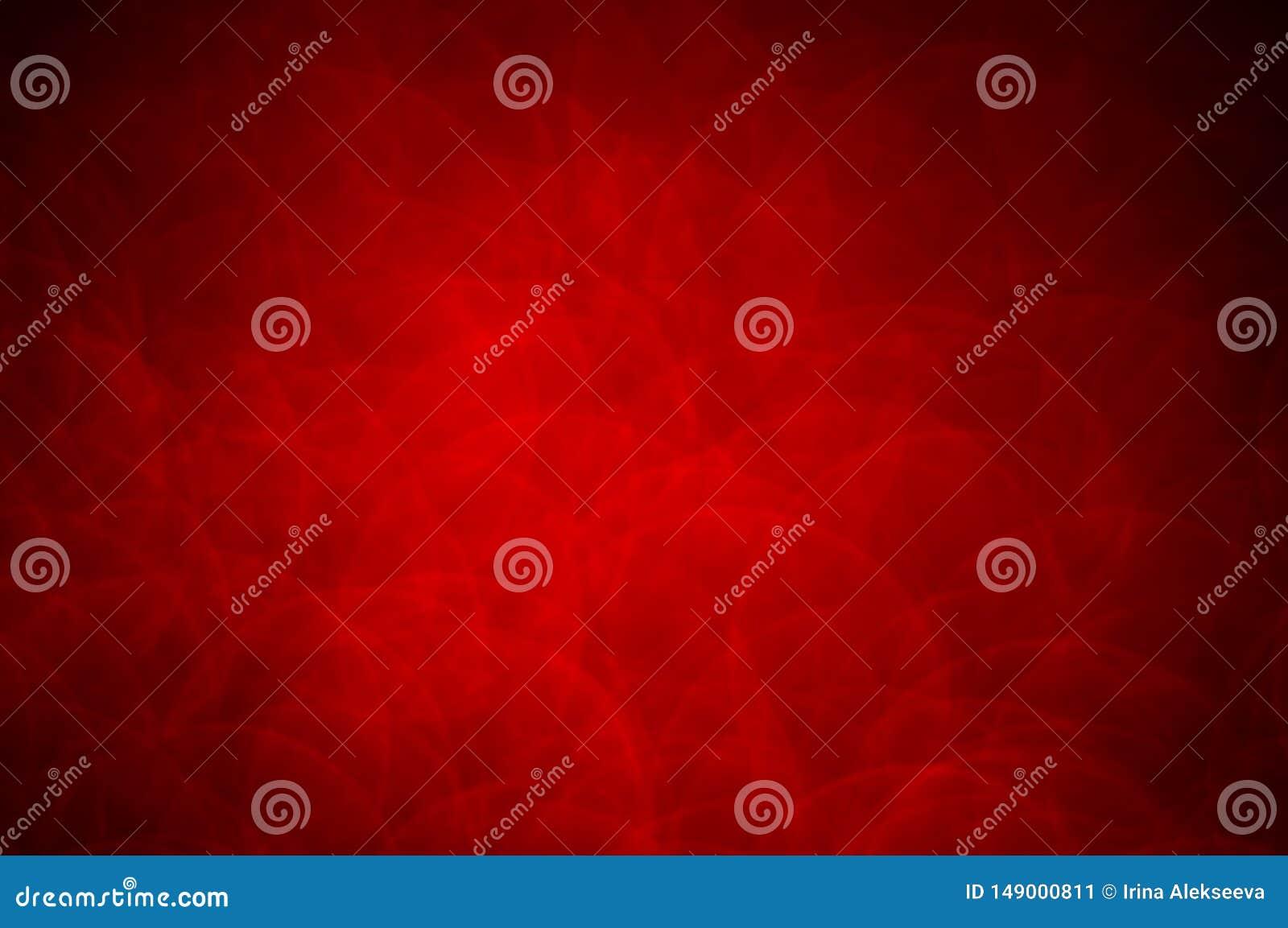 Красная абстрактная предпосылка с темным виньетированием открытый космос для ваших творческих способностей