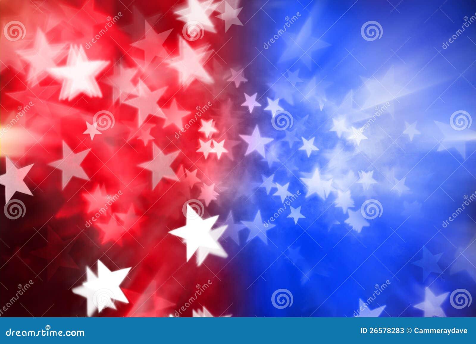 Красная белая предпосылка голубых звезд абстрактная