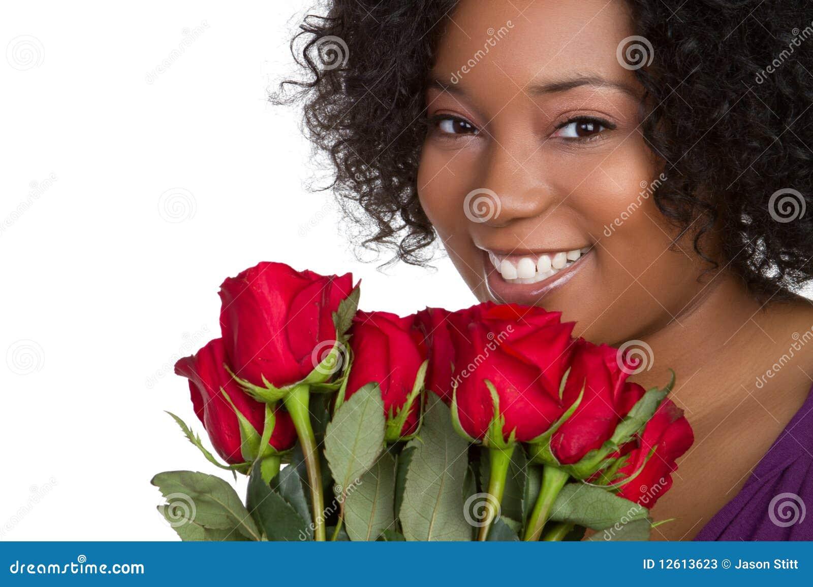 красная женщина роз
