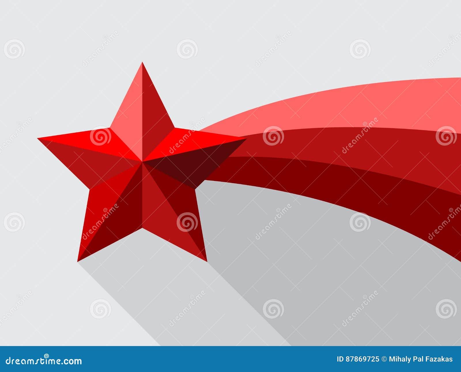 Красная звезда стрельбы с swoosh